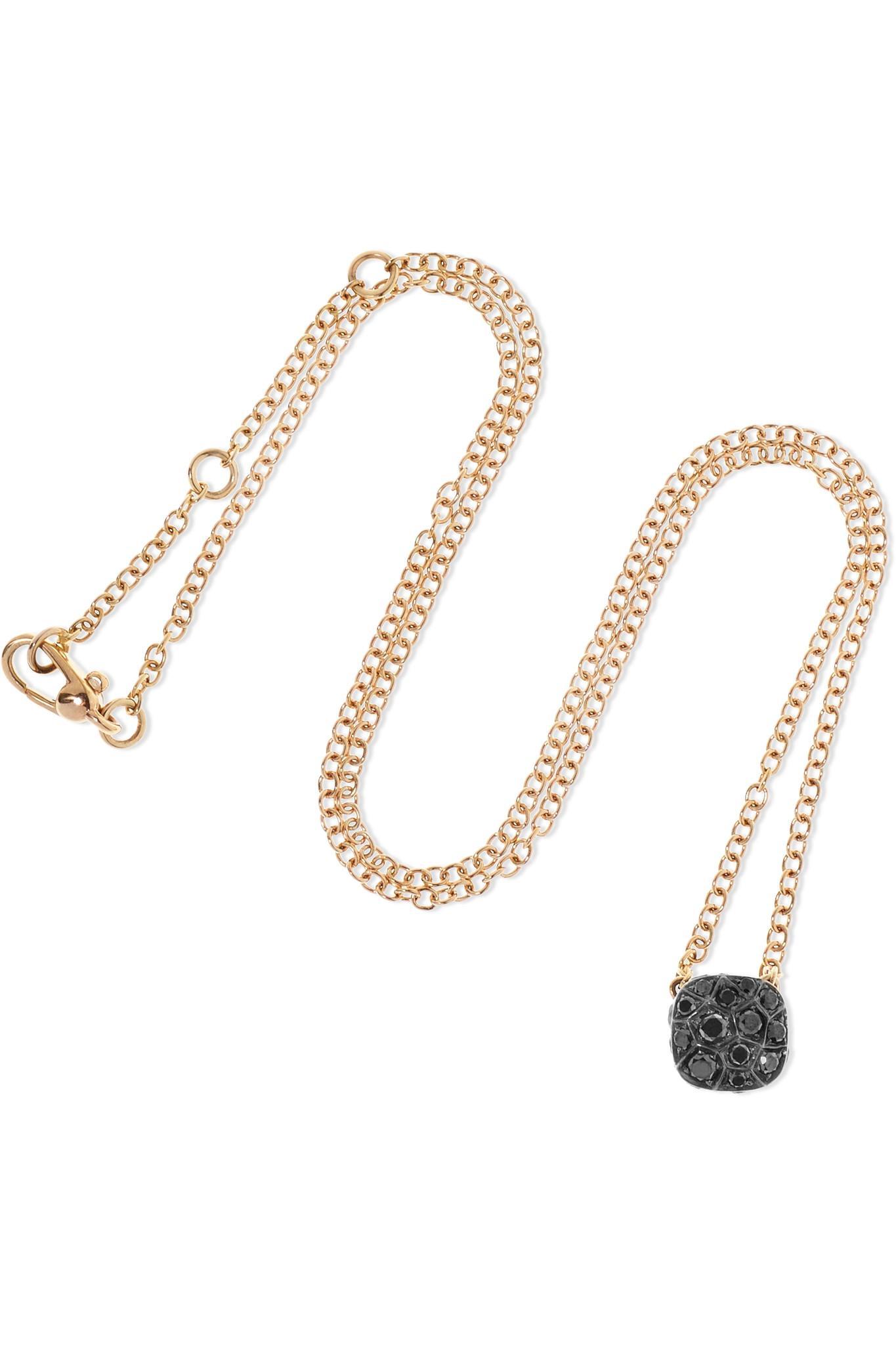 d408f8b805 Pomellato - Metallic Nudo 18-karat Rose Gold Diamond Necklace - Lyst. View  fullscreen