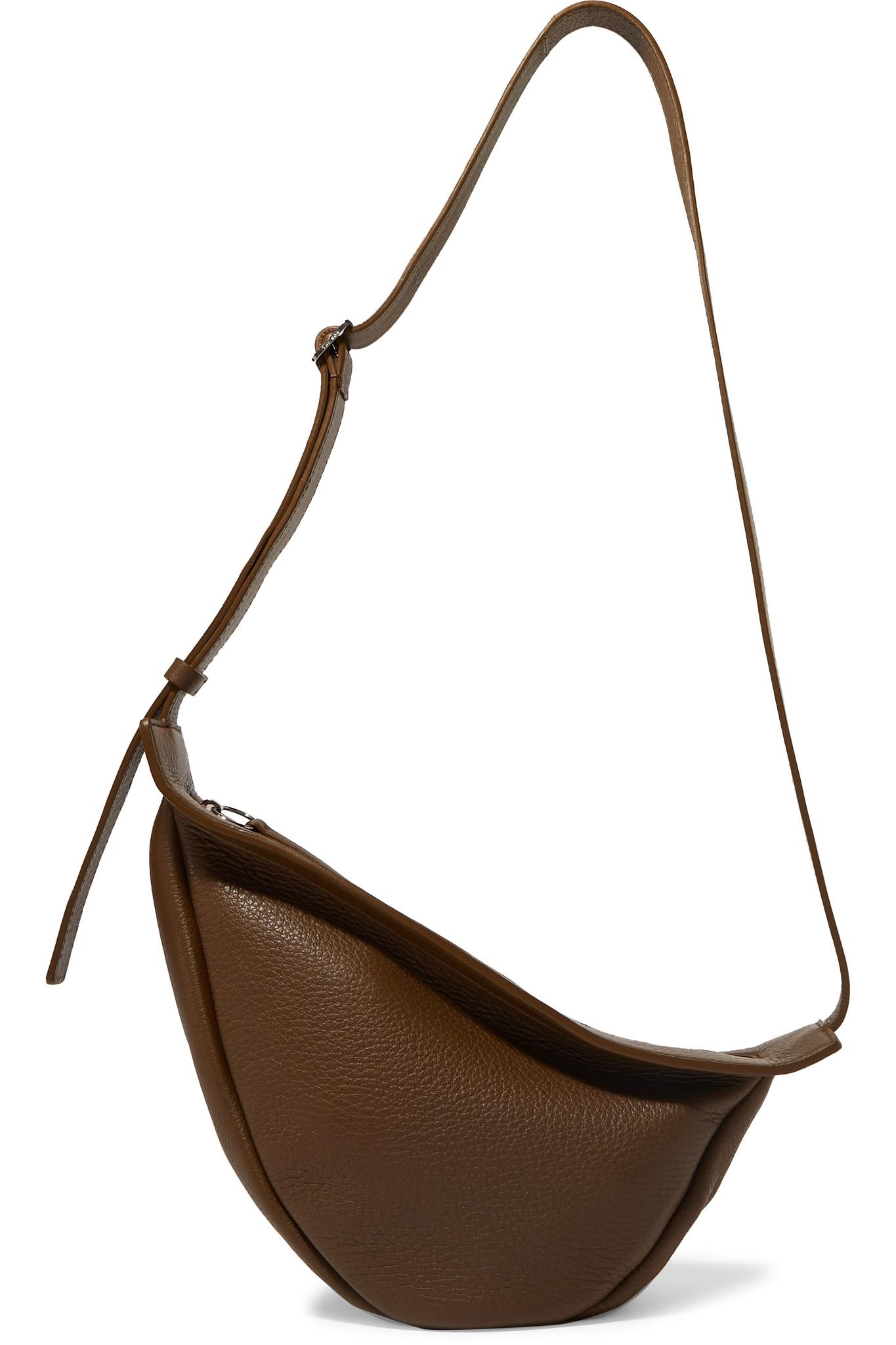 ec7883ba8a7a Lyst - The Row Slouchy Banana Textured-leather Shoulder Bag in Brown