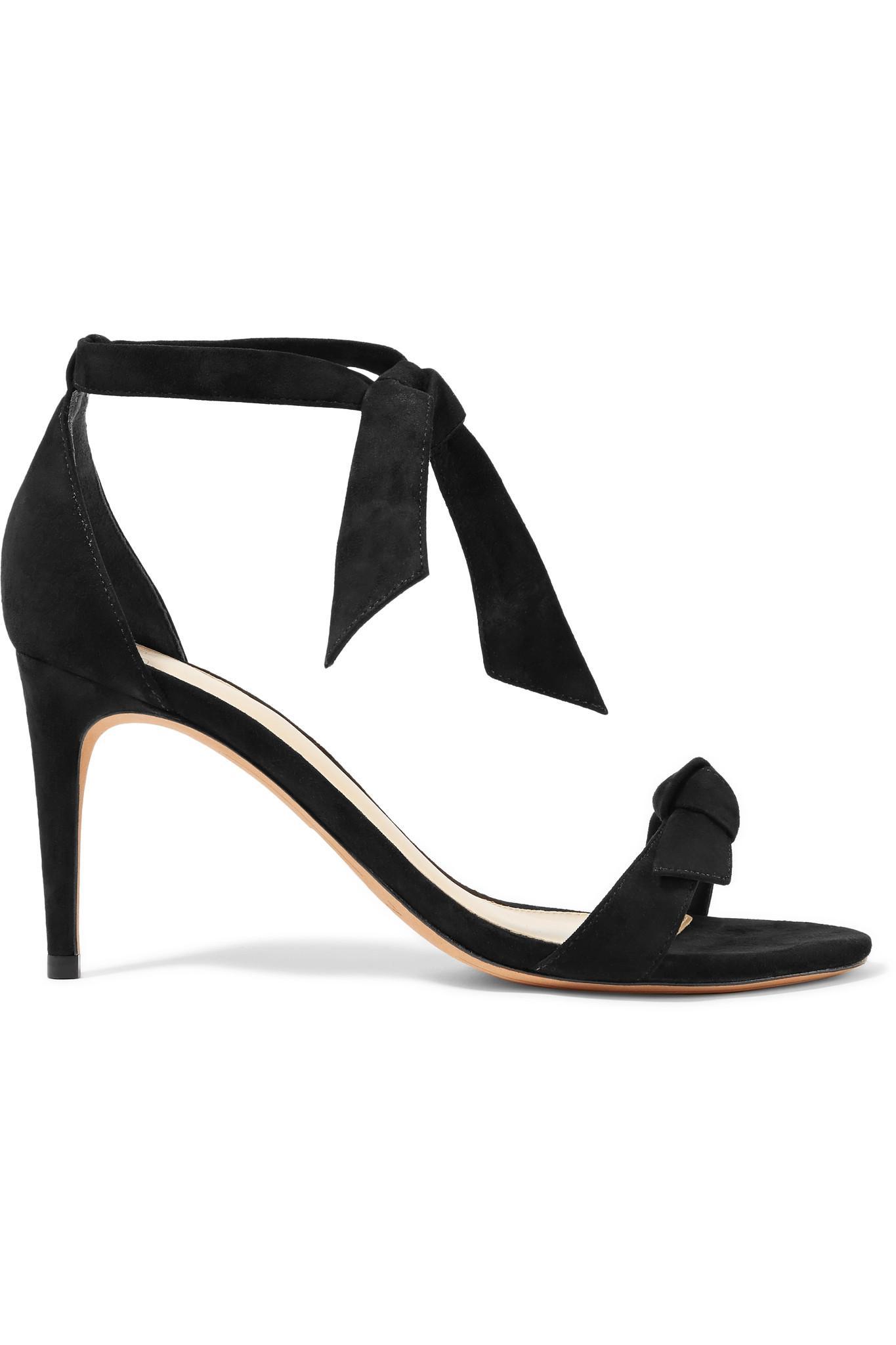 Clarita Bow-embellished Suede Sandals - Black Alexandre Birman TwD7hbQ8
