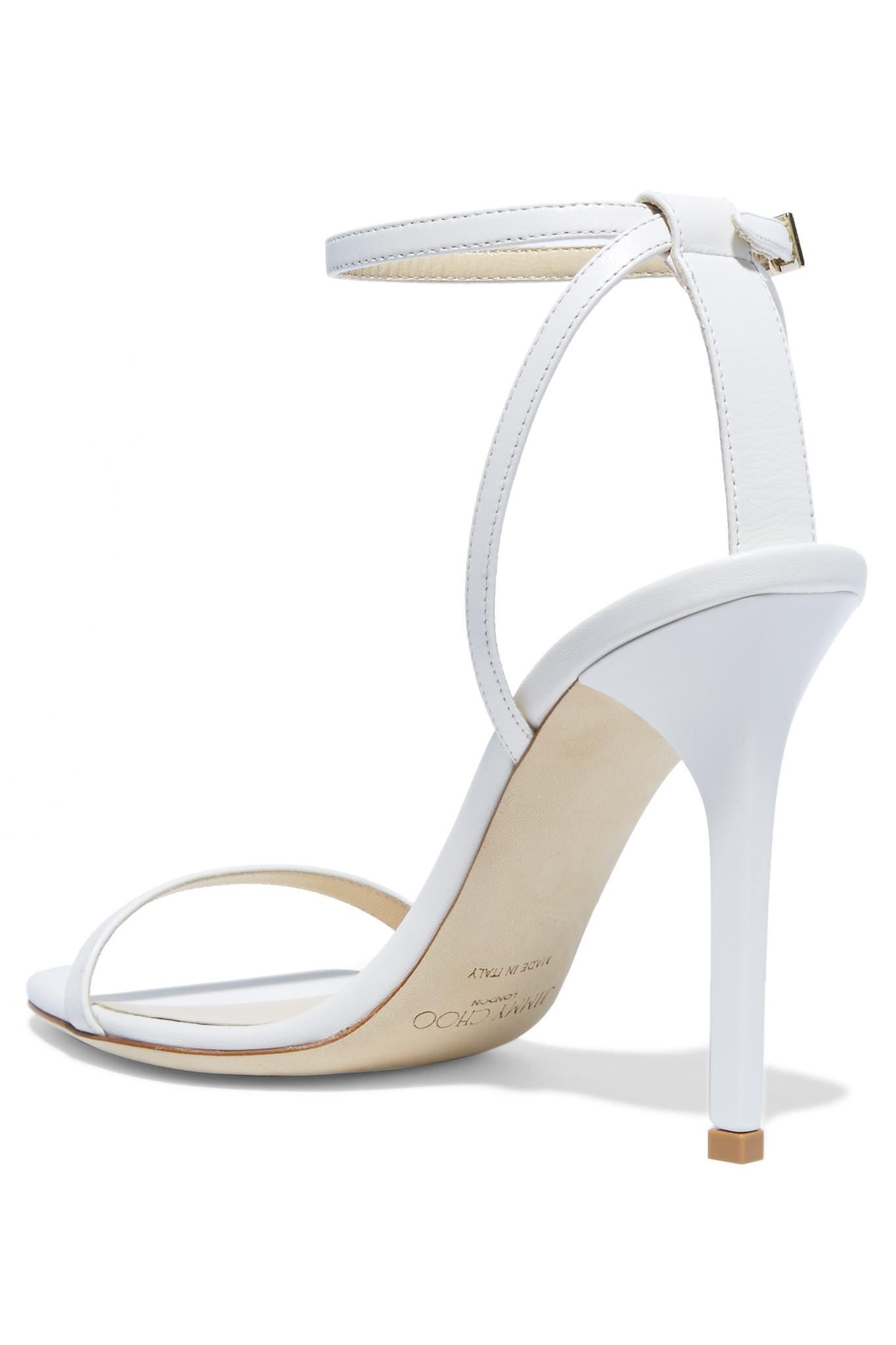 dae7320c7b8 Lyst - Jimmy Choo Minny Leather Sandals in White