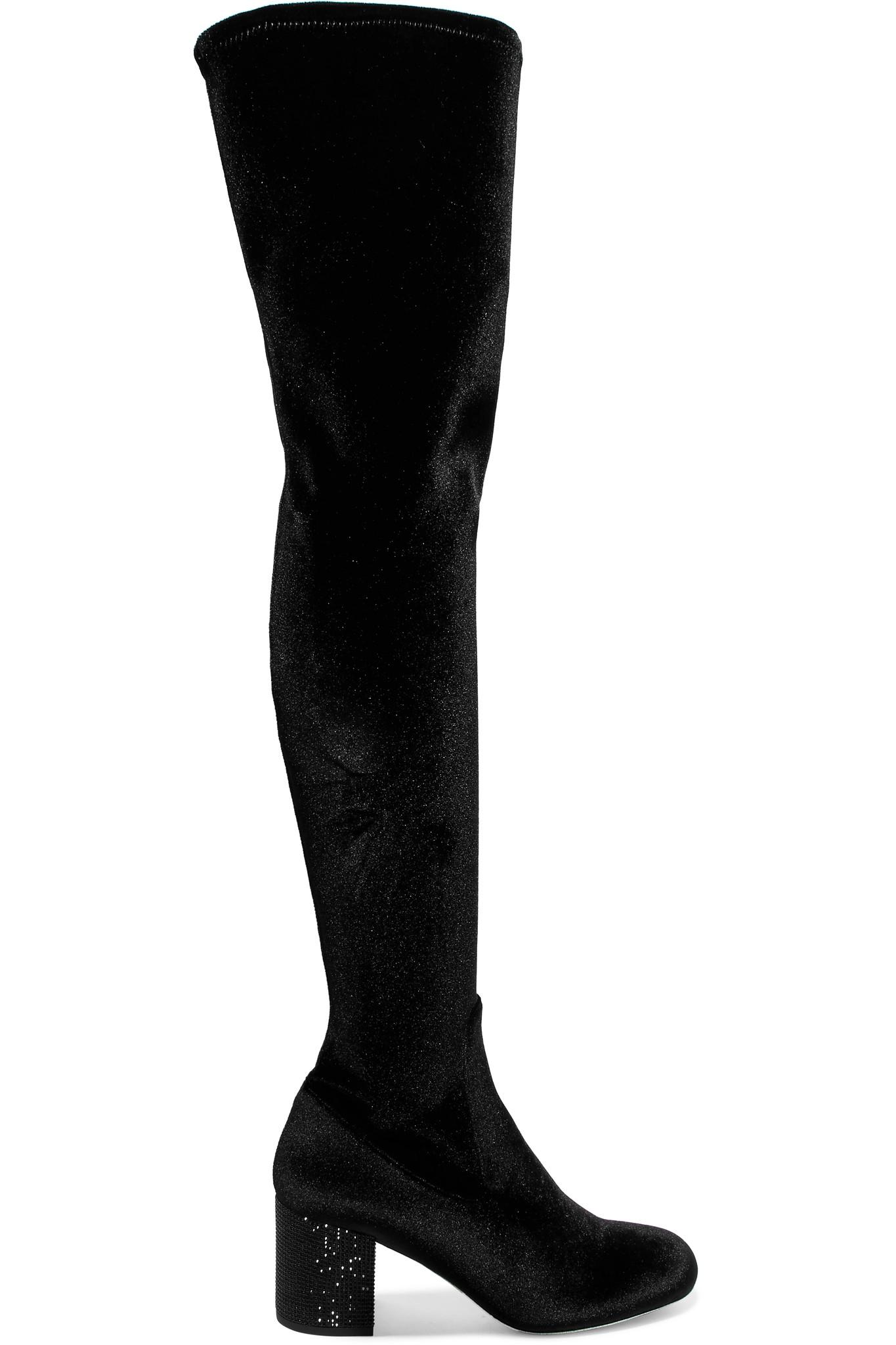 René Caovilla Rene Caovilla Embellished Knee-High Sock Boots cheap limited edition sale real deals online cheap 2015 new 5gC16