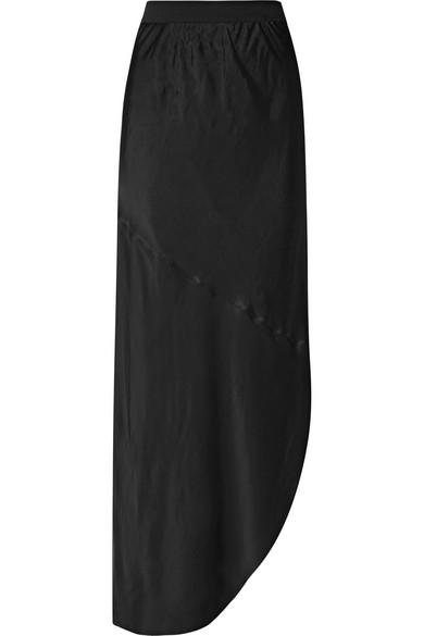 12267557f By Malene Birger Aliviay Asymmetric Crepe De Chine Maxi Skirt in ...