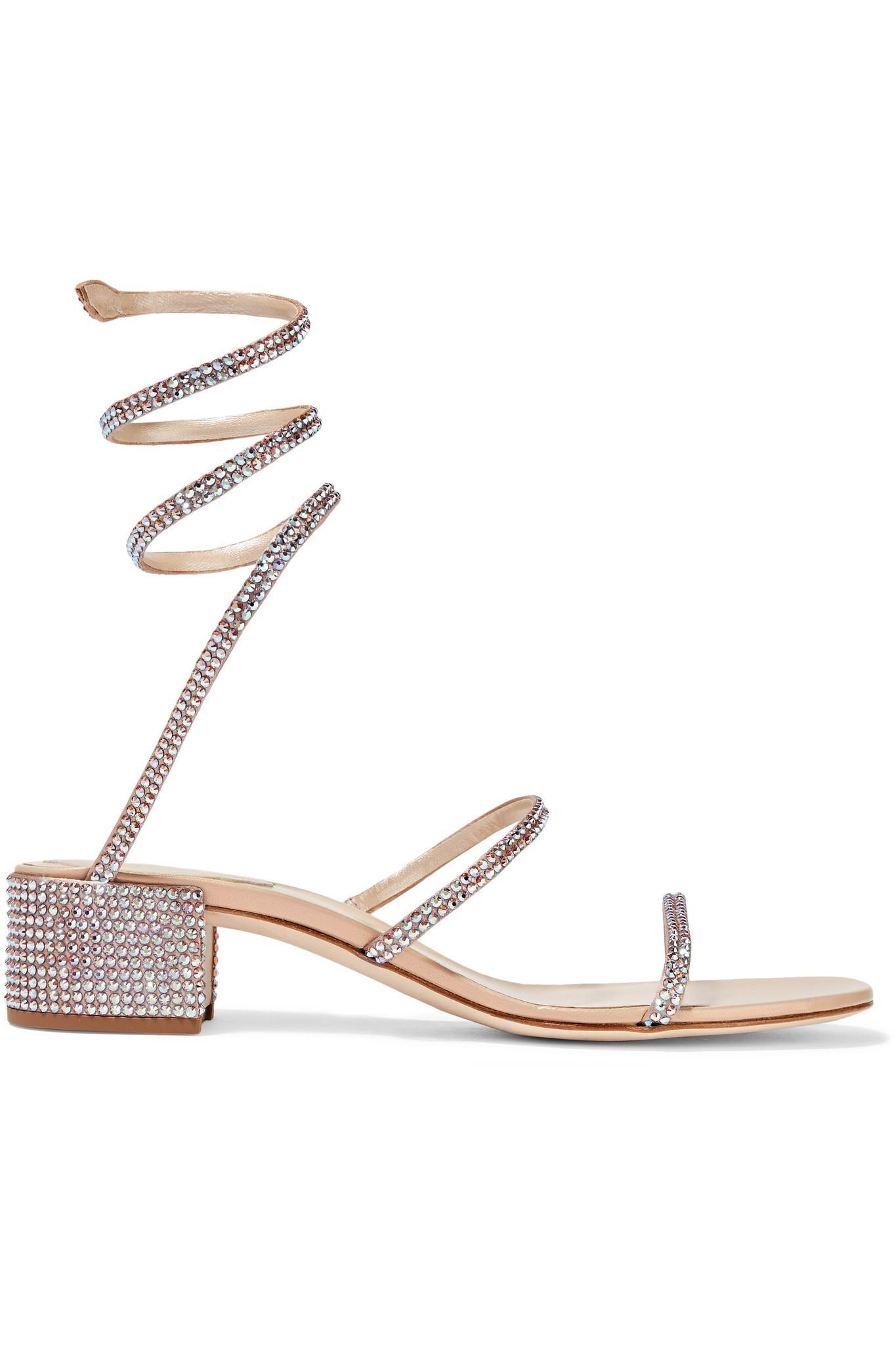 a5c297d979a22 Rene Caovilla. Women s Natural Cleo Crystal-embellished Satin Sandals