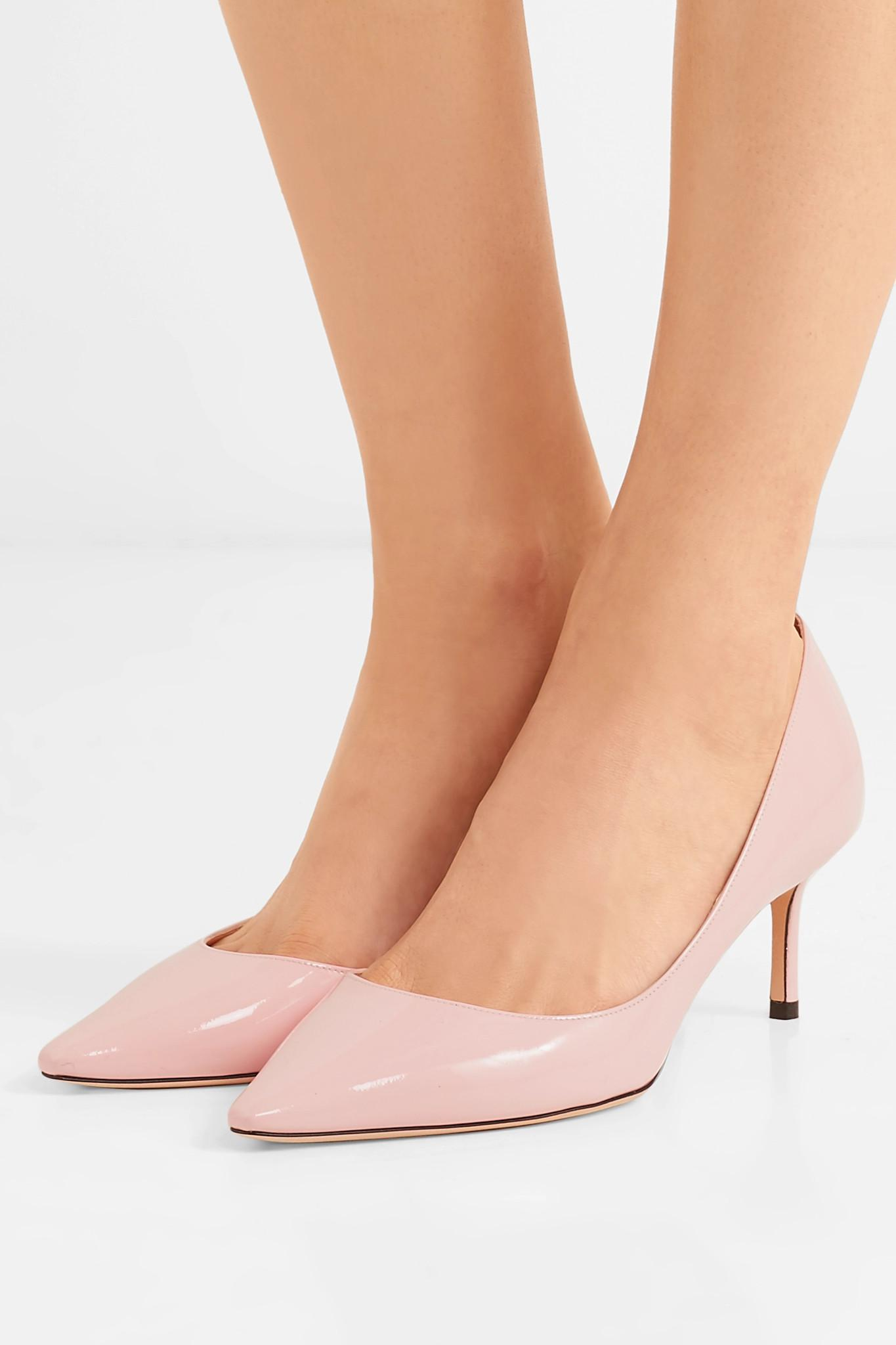 b006127dba8 Jimmy Choo Romy 60 Patent-leather Pumps in Pink - Save 74% - Lyst