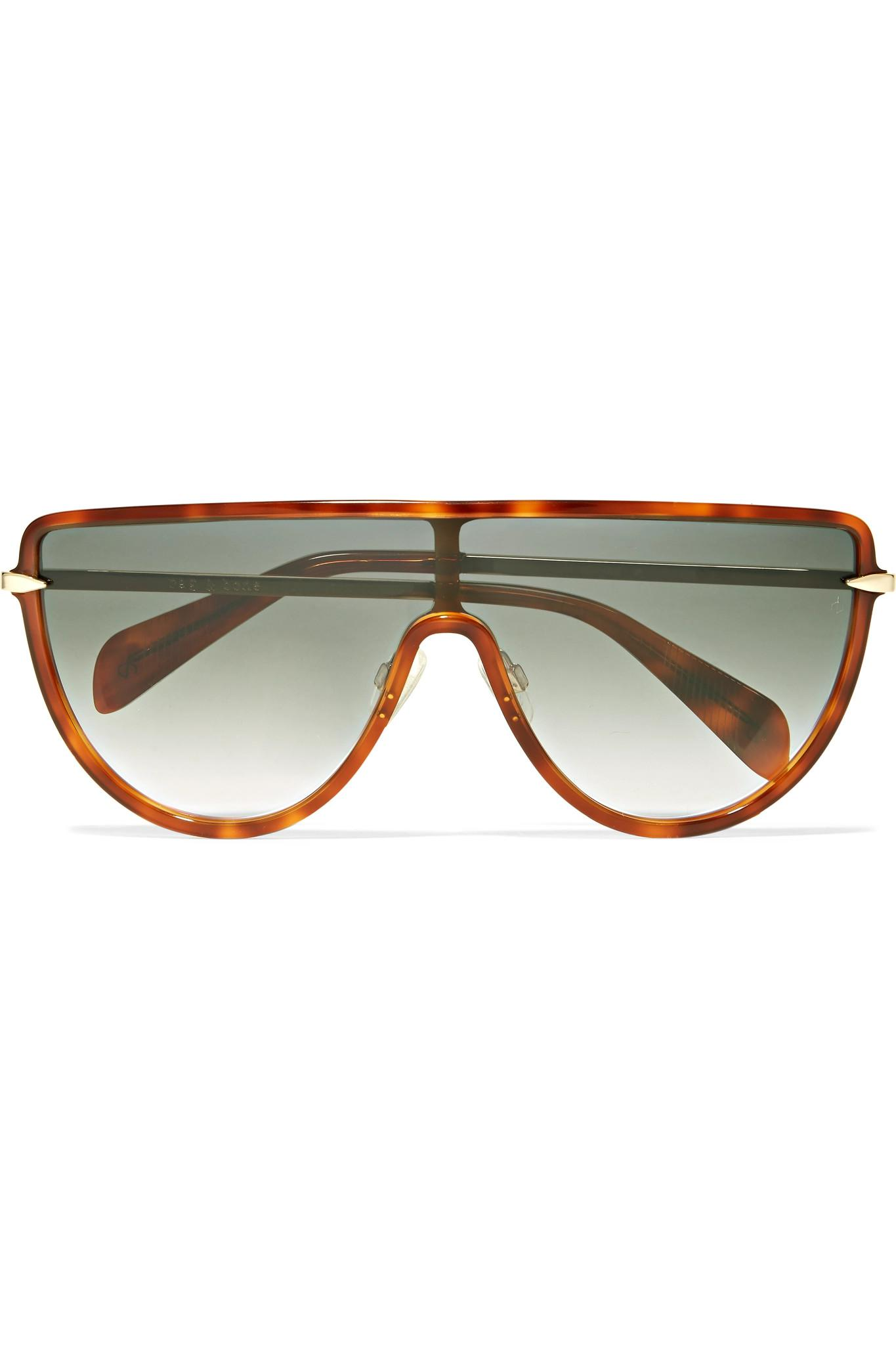 D-frame Acetate And Gold-tone Sunglasses - Brown Rag & Bone