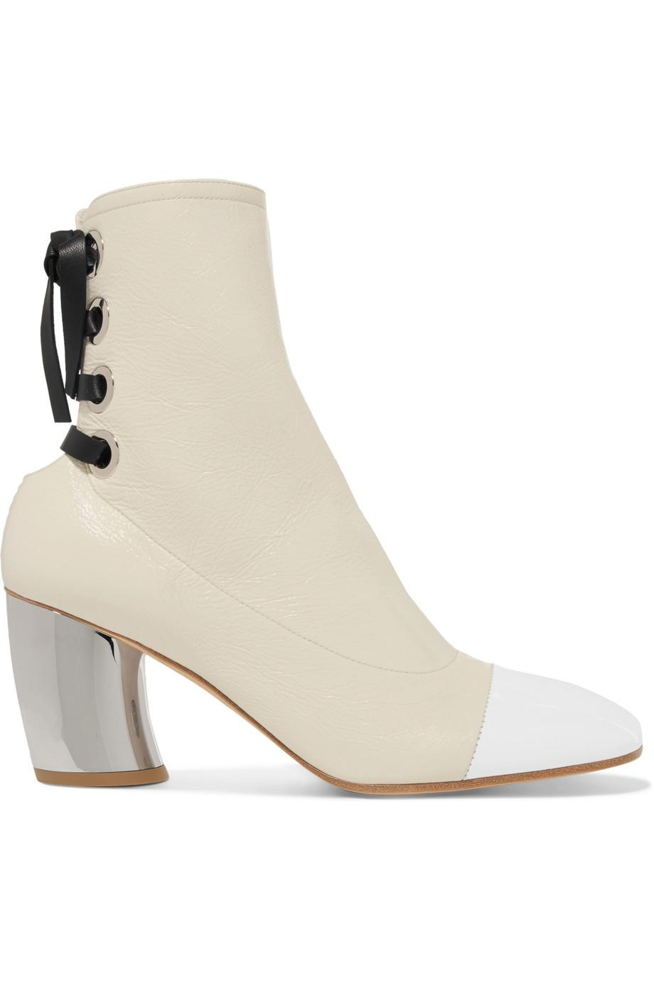 Proenza Schouler Glossed-leather ankle boots JYO0G
