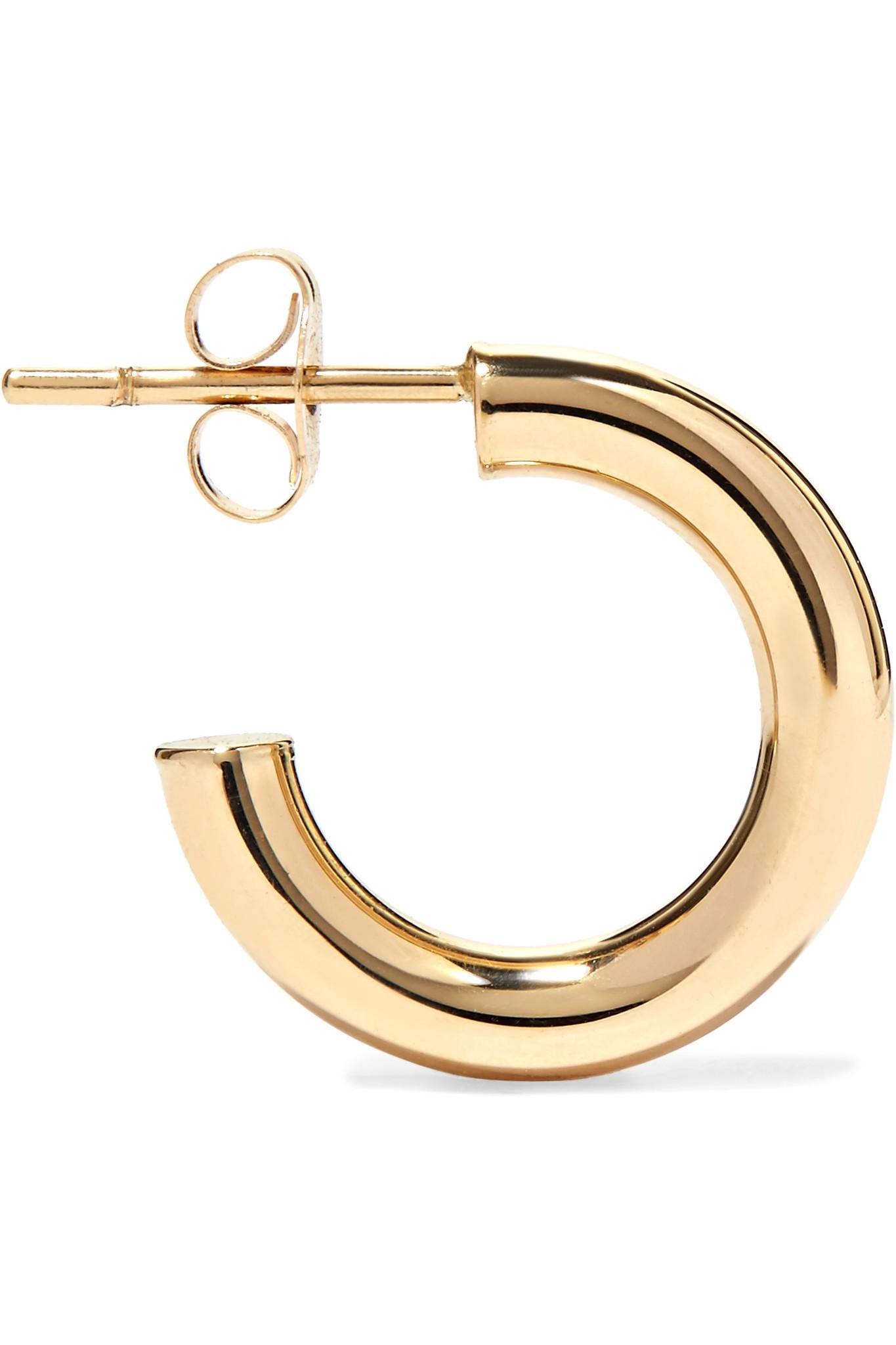 Lyst Loren Stewart Chubbie Huggies 10 Karat Gold Hoop Earrings In