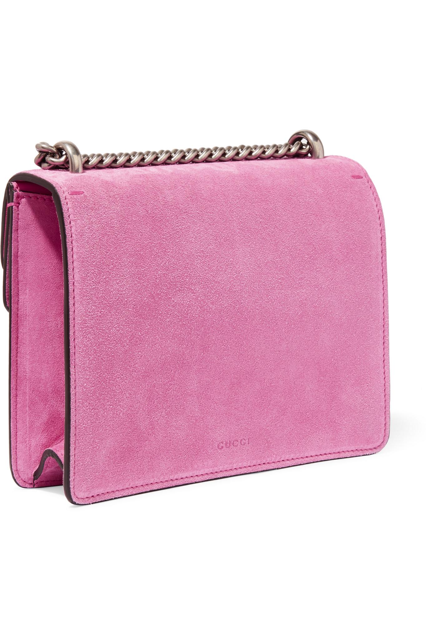 c85e45e4e Gucci Dionysus Mini Suede Shoulder Bag in Pink - Lyst
