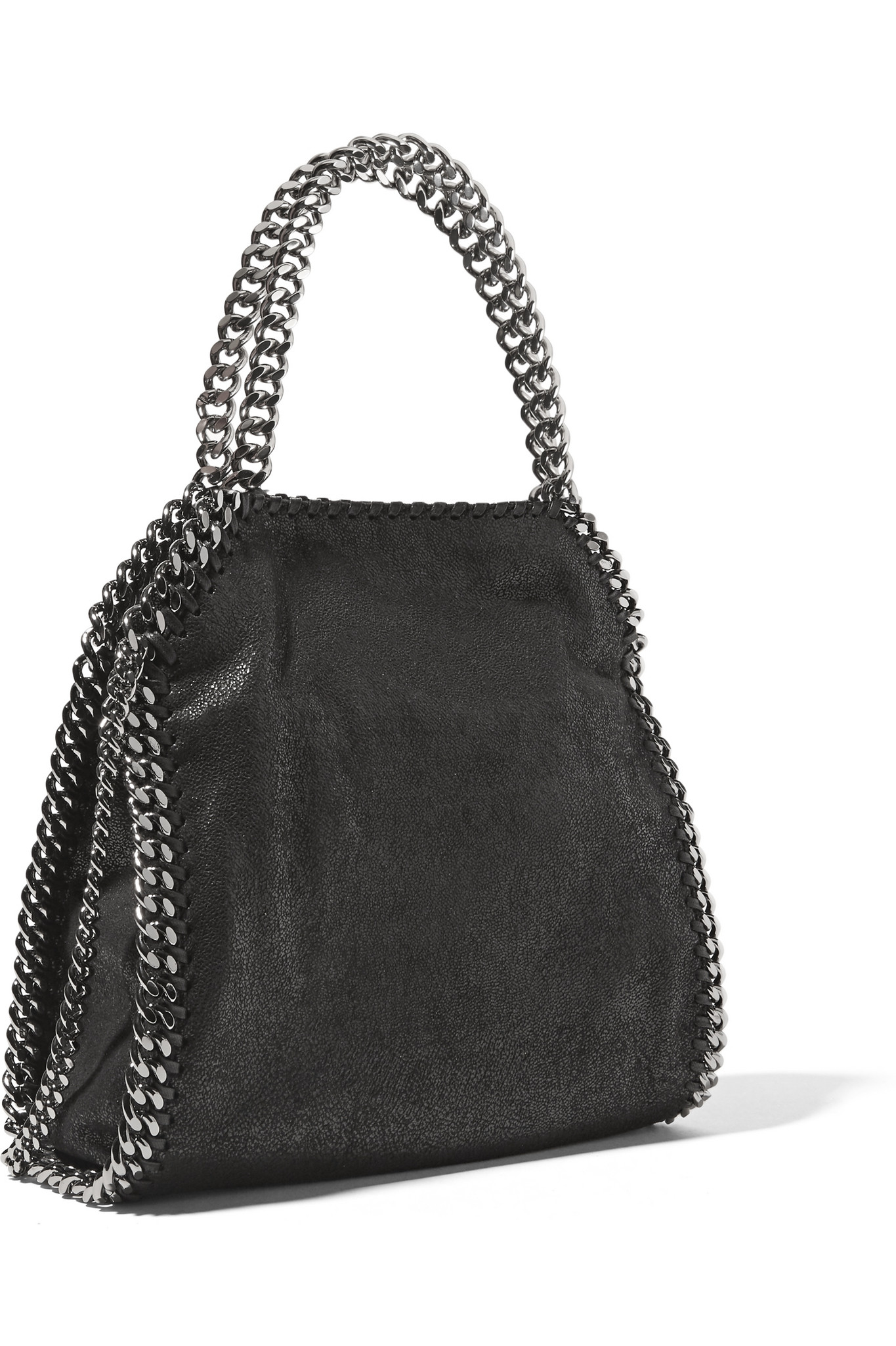 caad7bb81a Lyst - Stella Mccartney The Falabella Mini Faux Brushed-leather ...