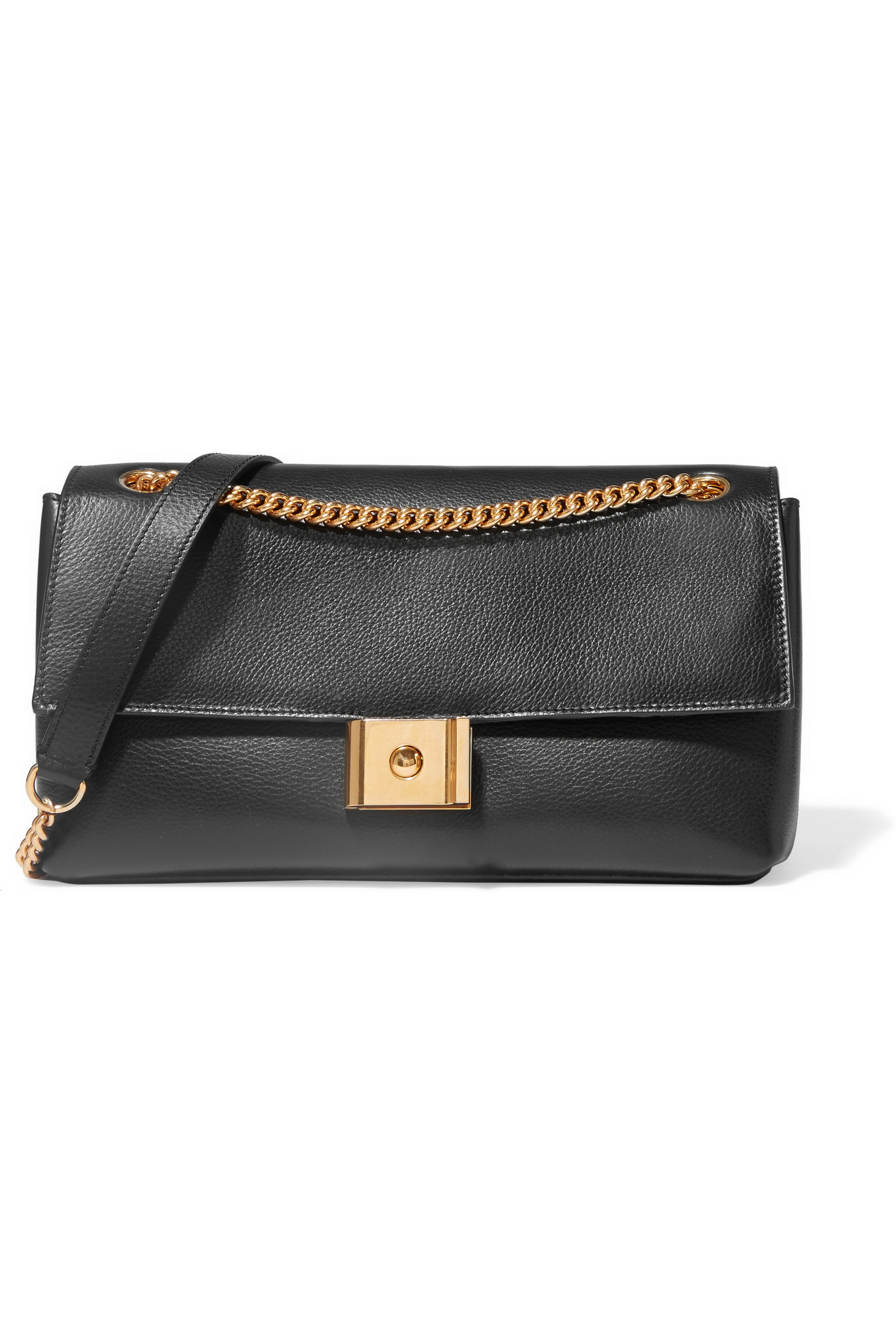 f2904c8012 Lyst - Mulberry Cheyne Textured-leather Shoulder Bag in Black
