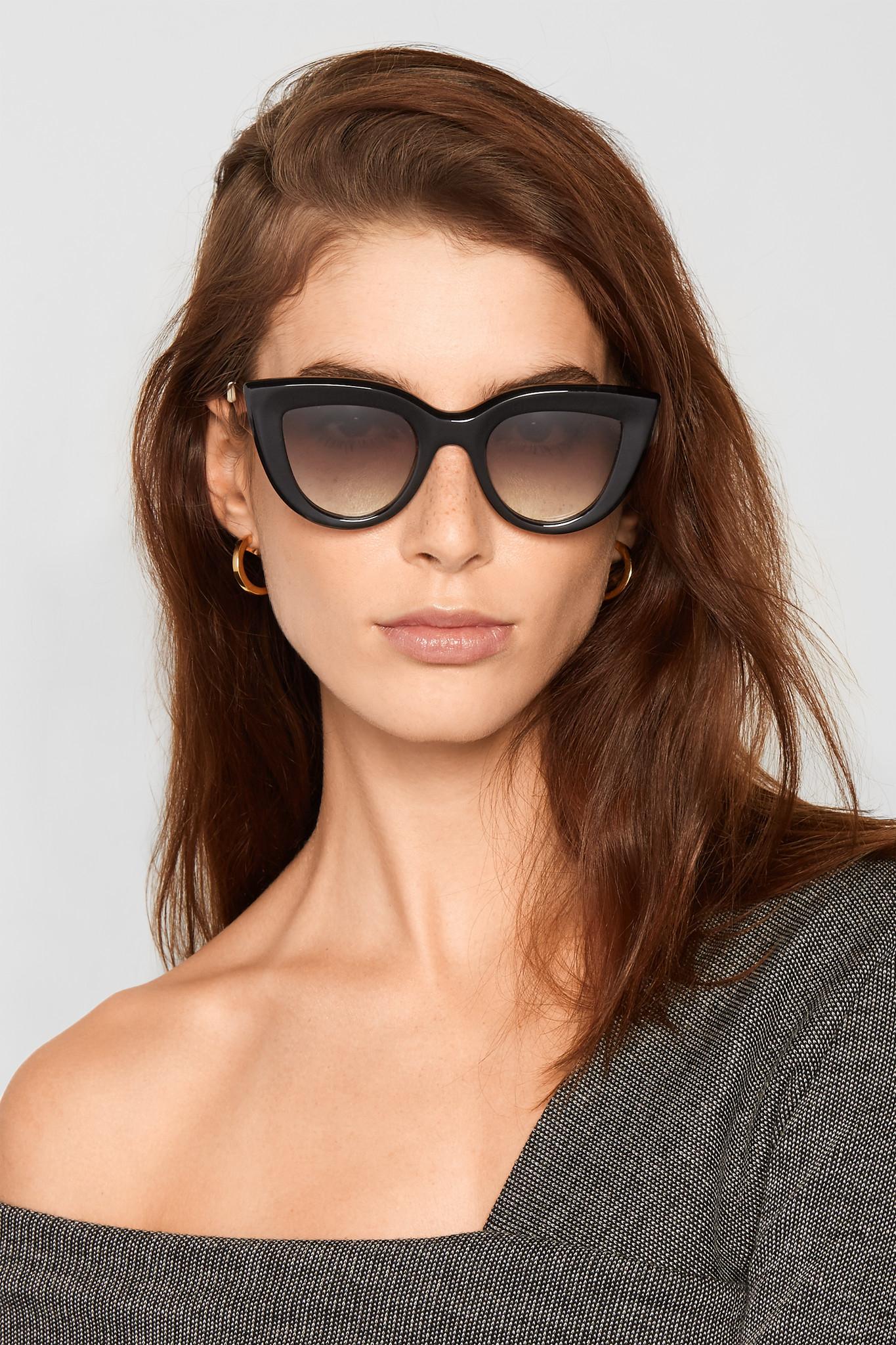 15fe5ddd213c2 Ellery Quixote Cat-eye Acetate And Gold-tone Sunglasses in Black - Lyst