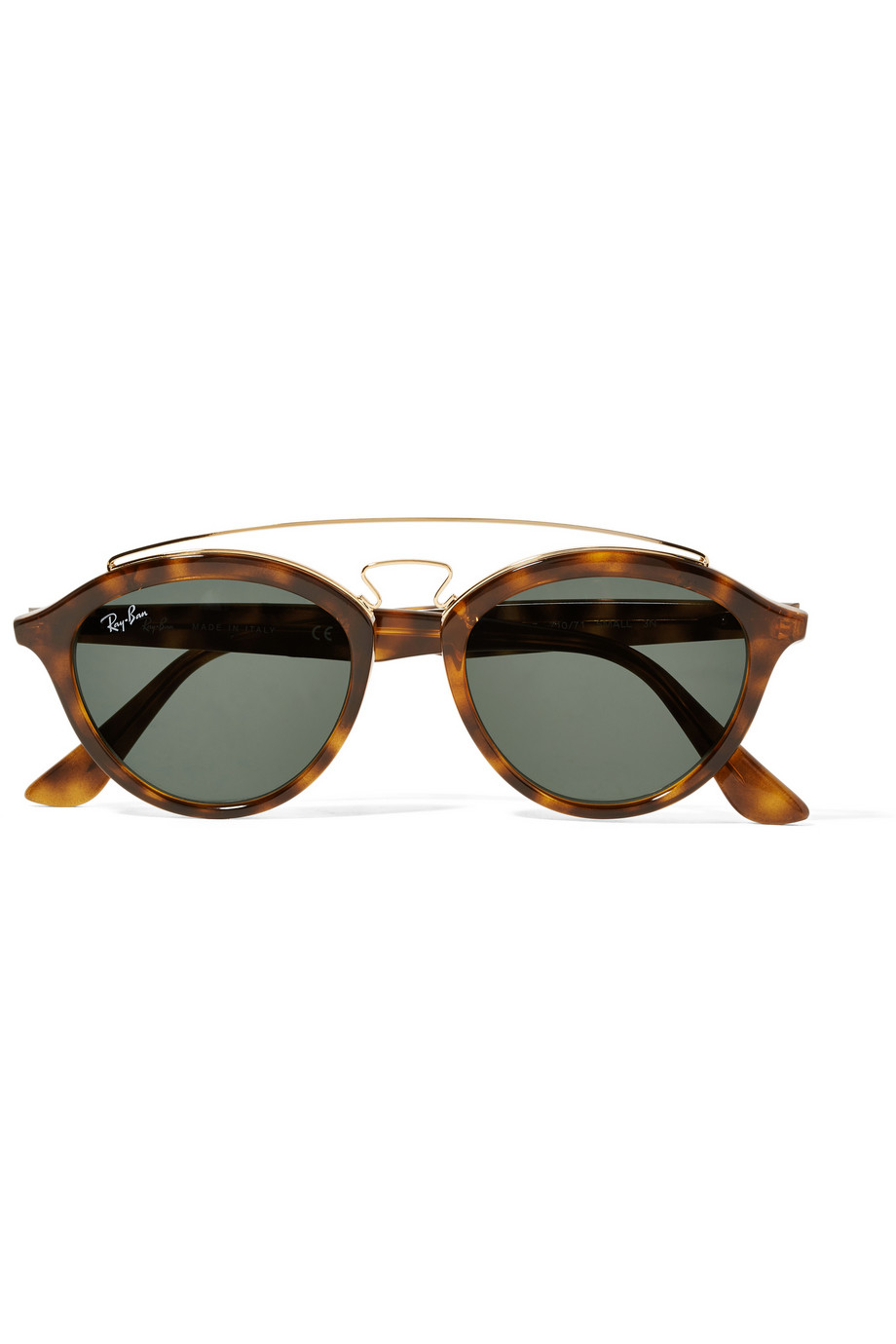 Ray Ban Round Frame Sunglasses : Ray-ban Round-frame Acetate And Gold-tone Sunglasses in ...