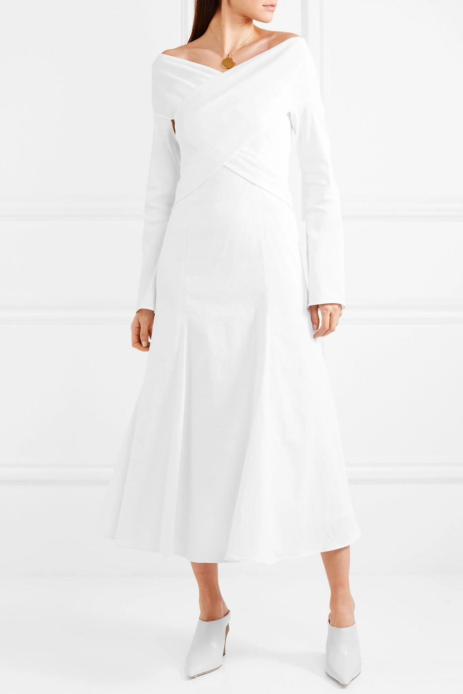 Prima Stretch Linen-blend Dress - White Beaufille Outlet Latest OtexGVRi