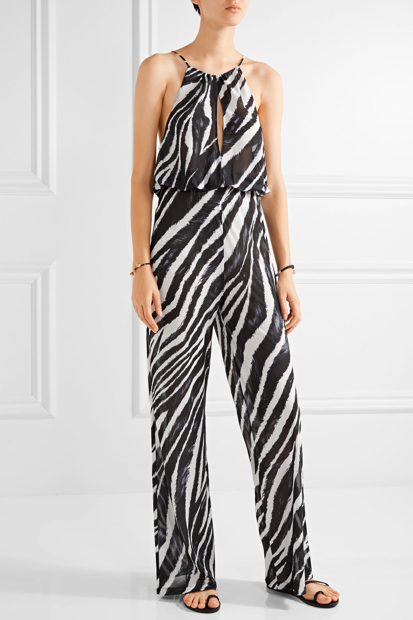 L Agent By Agent Provocateur Isabell Zebra Print Chiffon