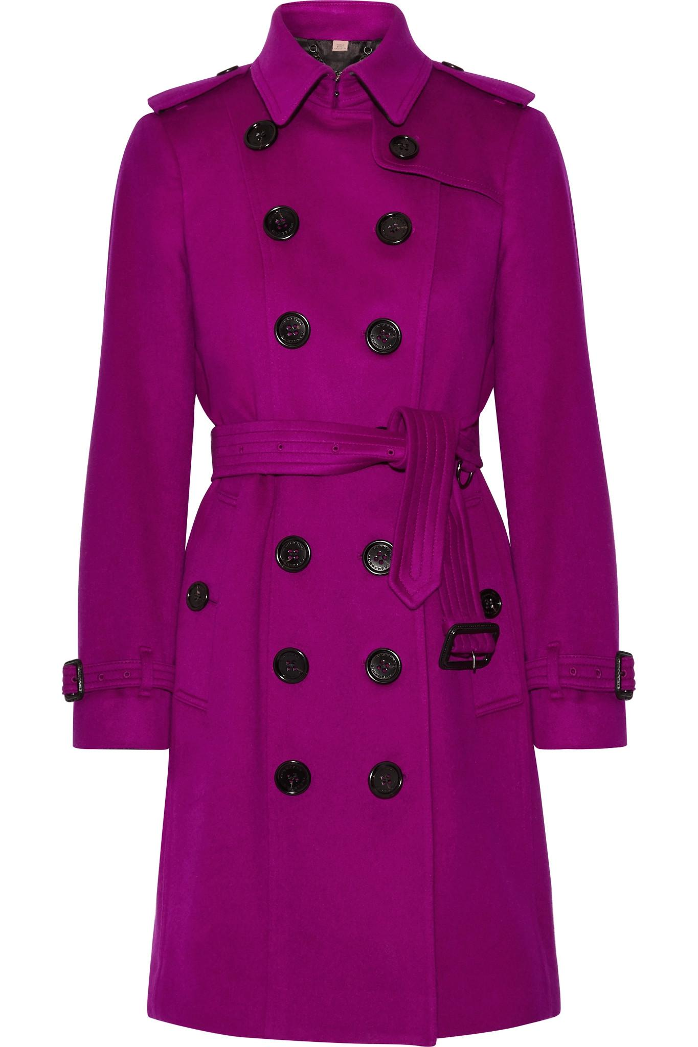 burberry the sandringham cashmere trench coat in purple lyst. Black Bedroom Furniture Sets. Home Design Ideas