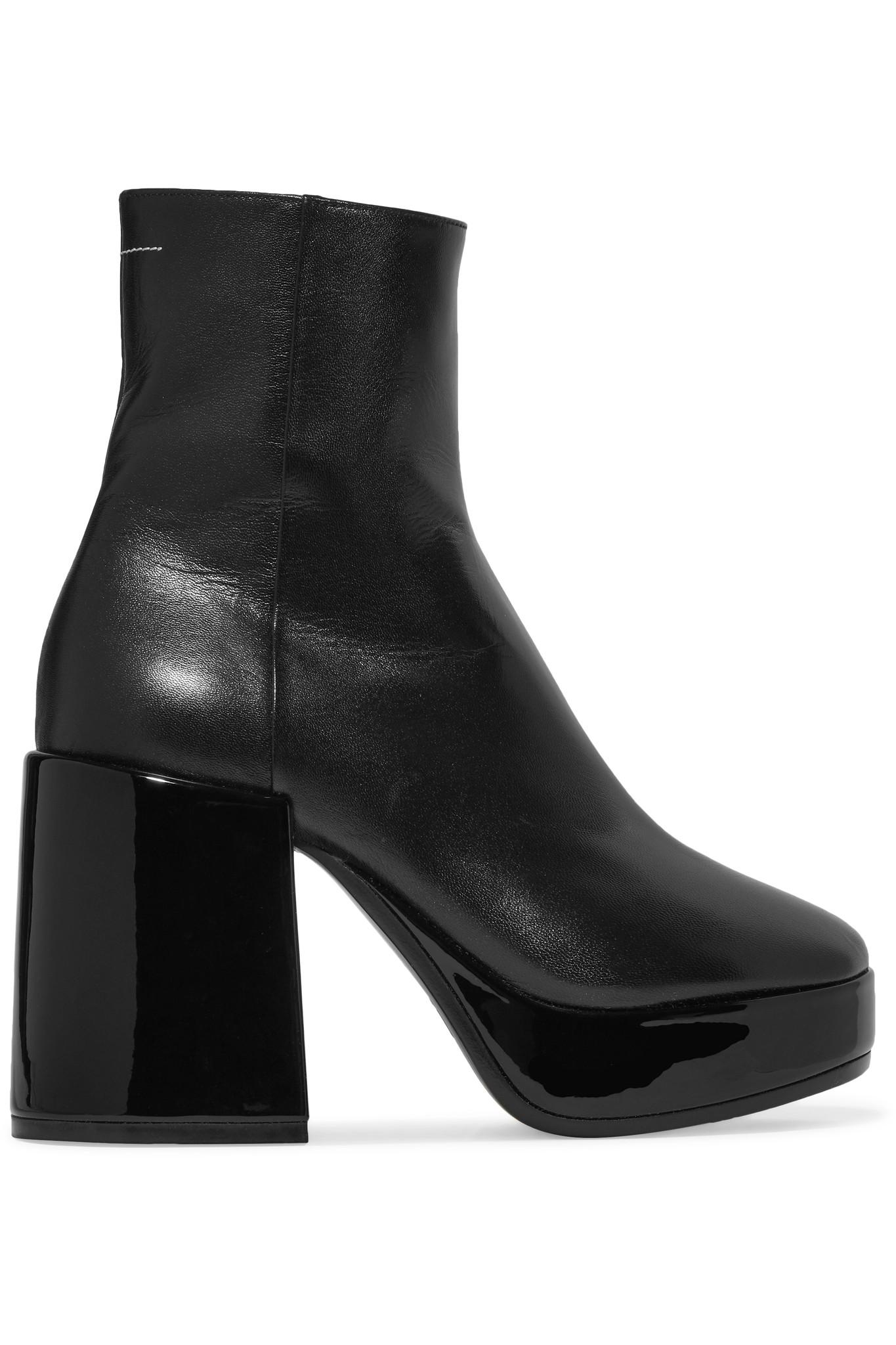 MM6 Maison Martin Margiela Black Ellis Knit Boots ebay for sale pick a best for sale free shipping official shop offer sale online HuPkllq