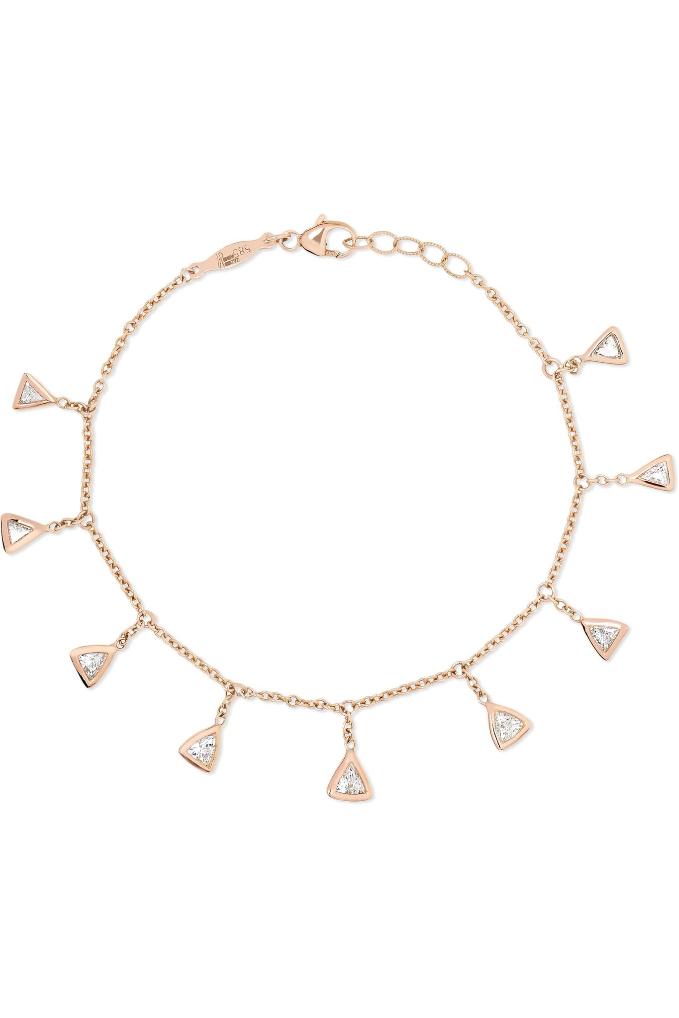 Jacquie Aiche 14-karat Rose Gold Diamond Bracelet ah6PEck