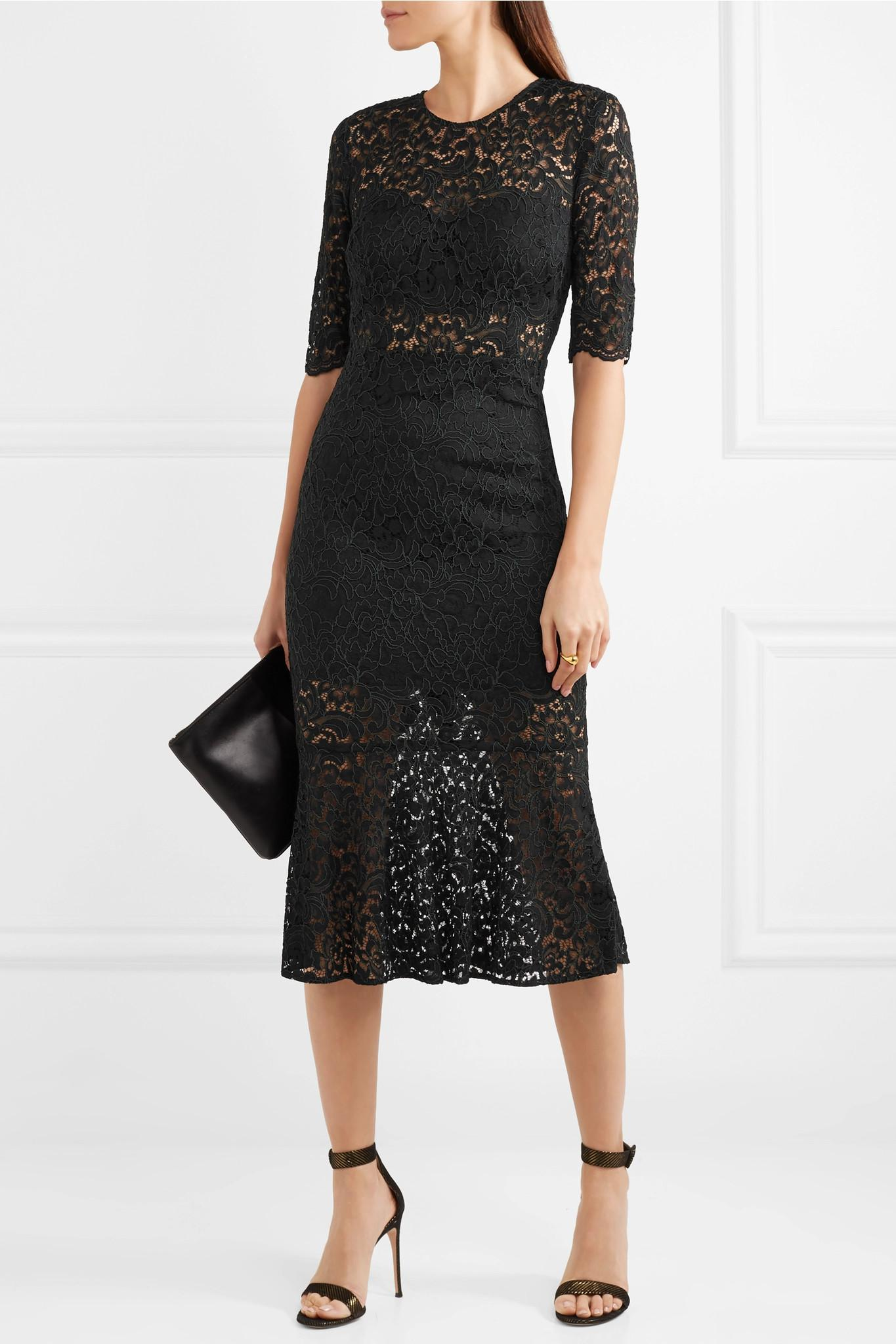 Linden Lace Midi Dress - Black Veronica Beard High Quality Cheap Online Prx0GuIHC