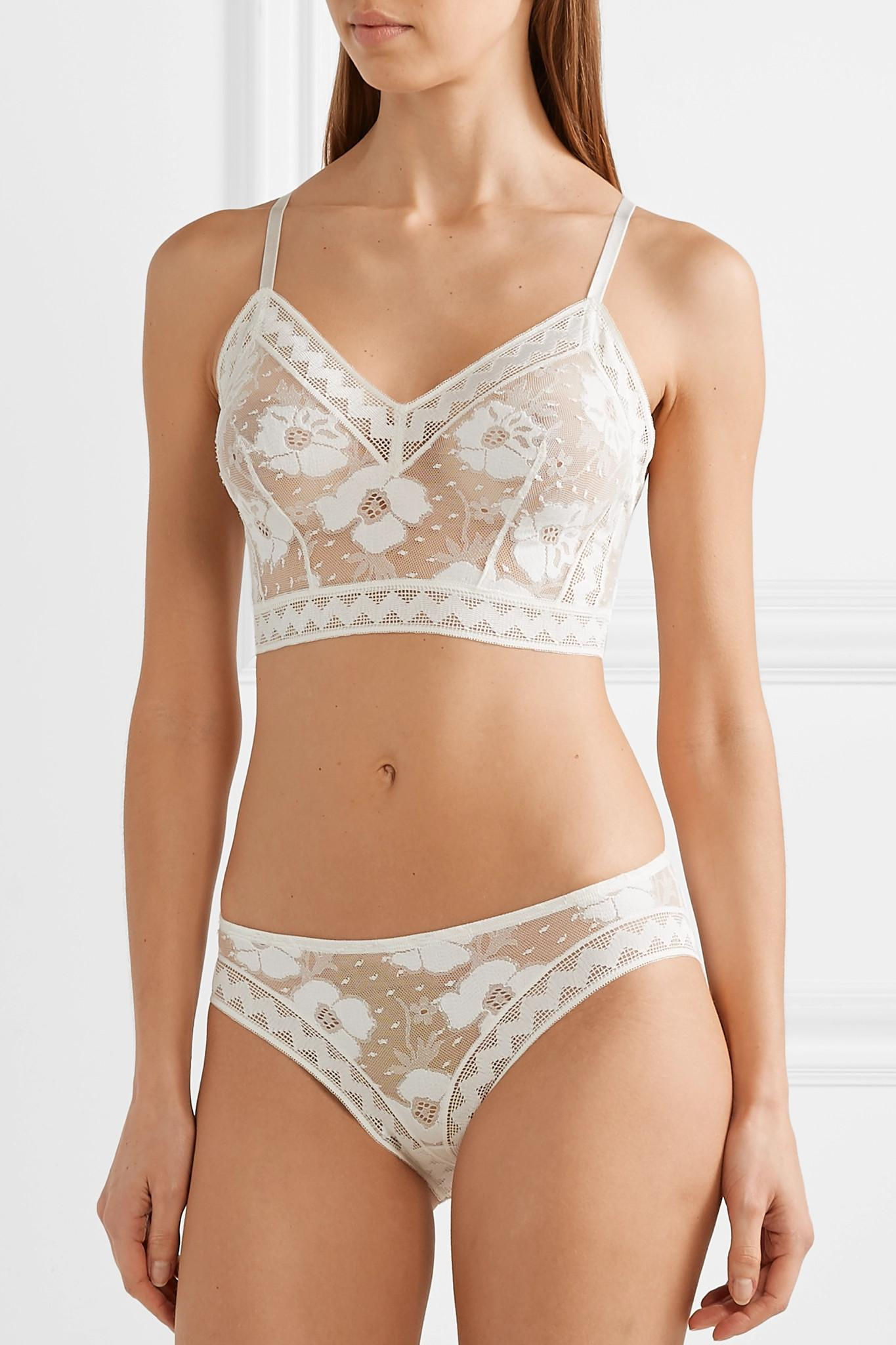2dddfb2cfe669 Lyst - Eres Anemone Azalee Stretch-lace Soft-cup Bra in White
