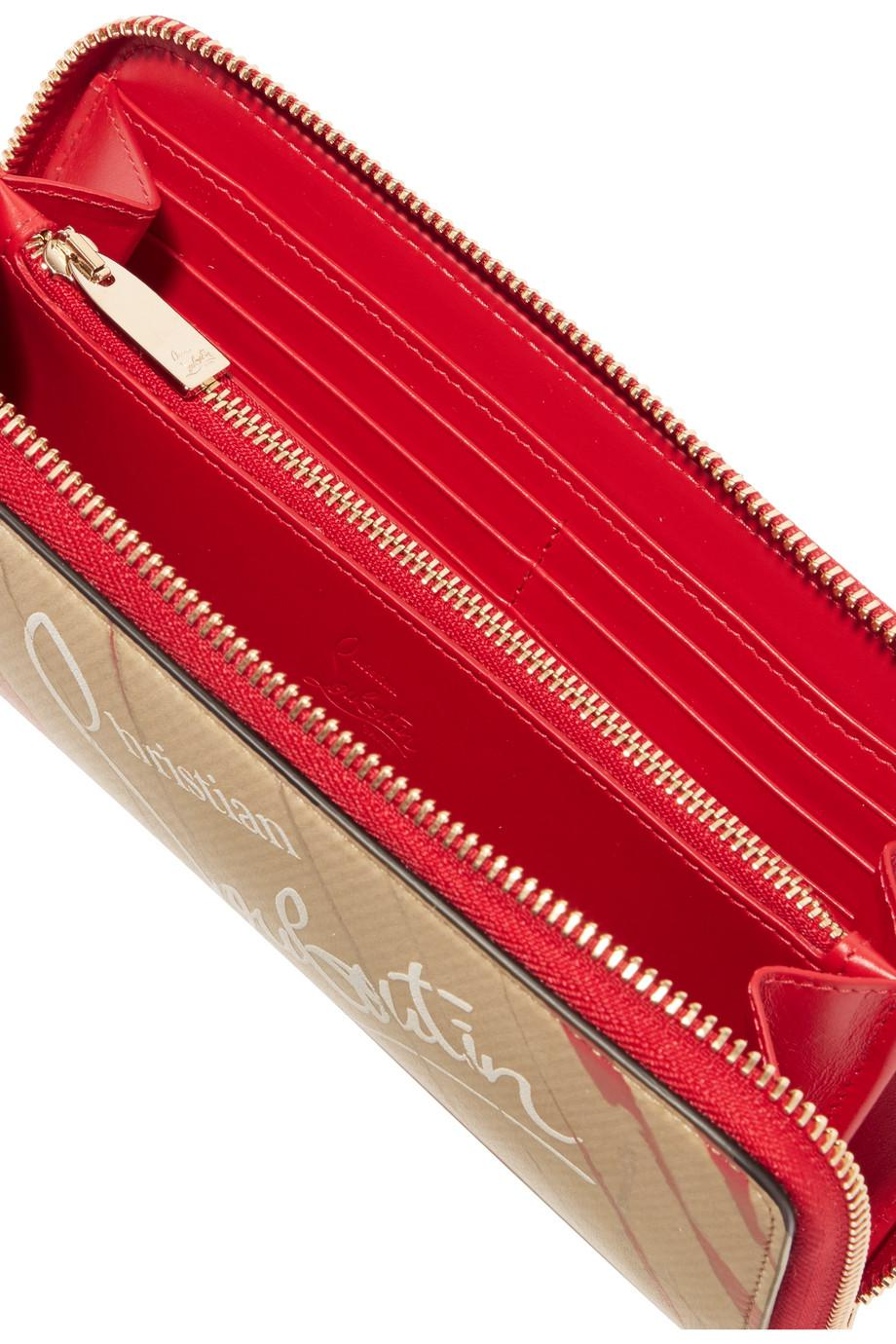 Panettone Kraft Printed Leather Continental Wallet - Red Christian Louboutin Uy7gsIN
