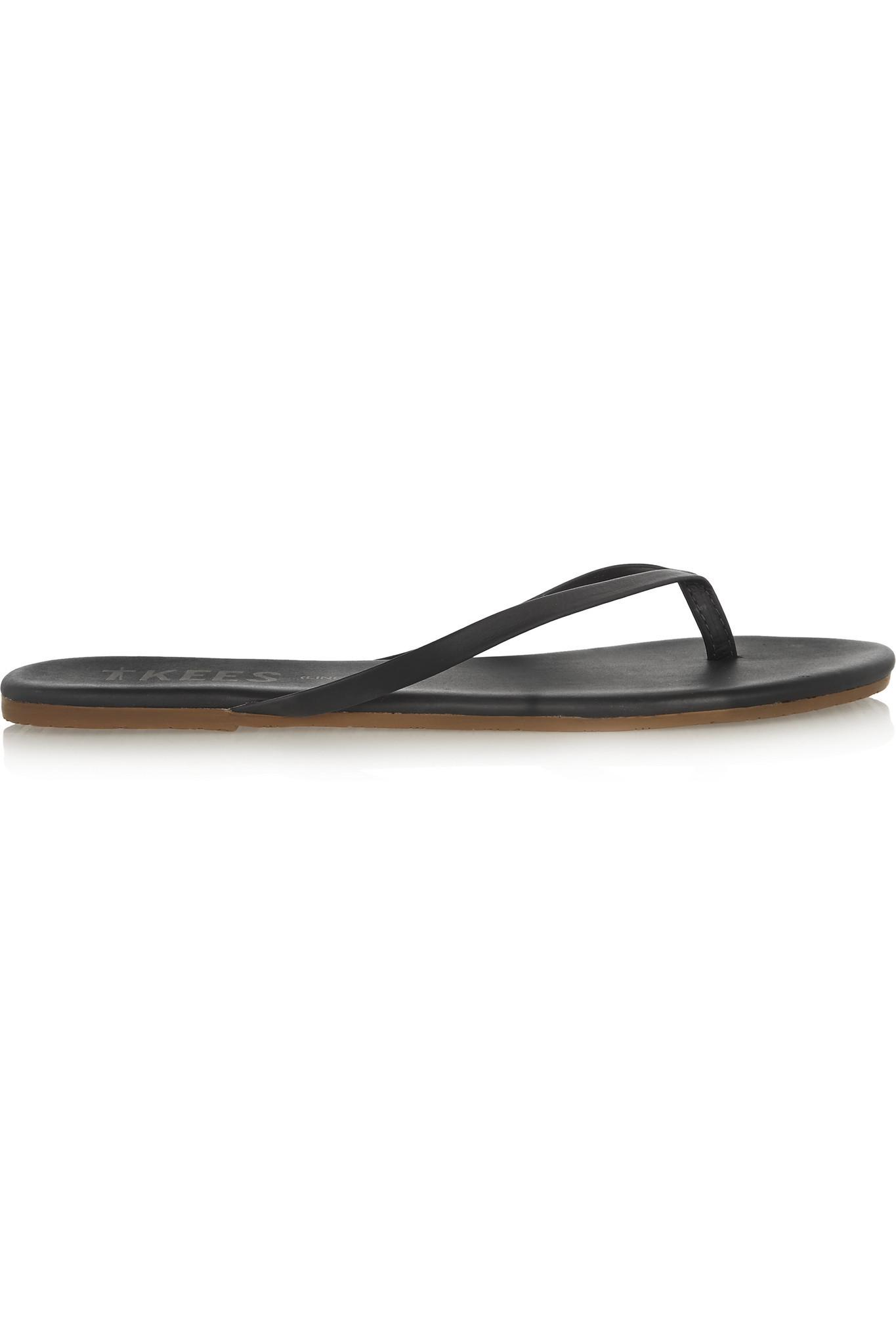 e8e1fcac31de65 TKEES Lily Matte-leather Flip Flop in Black - Save 3% - Lyst