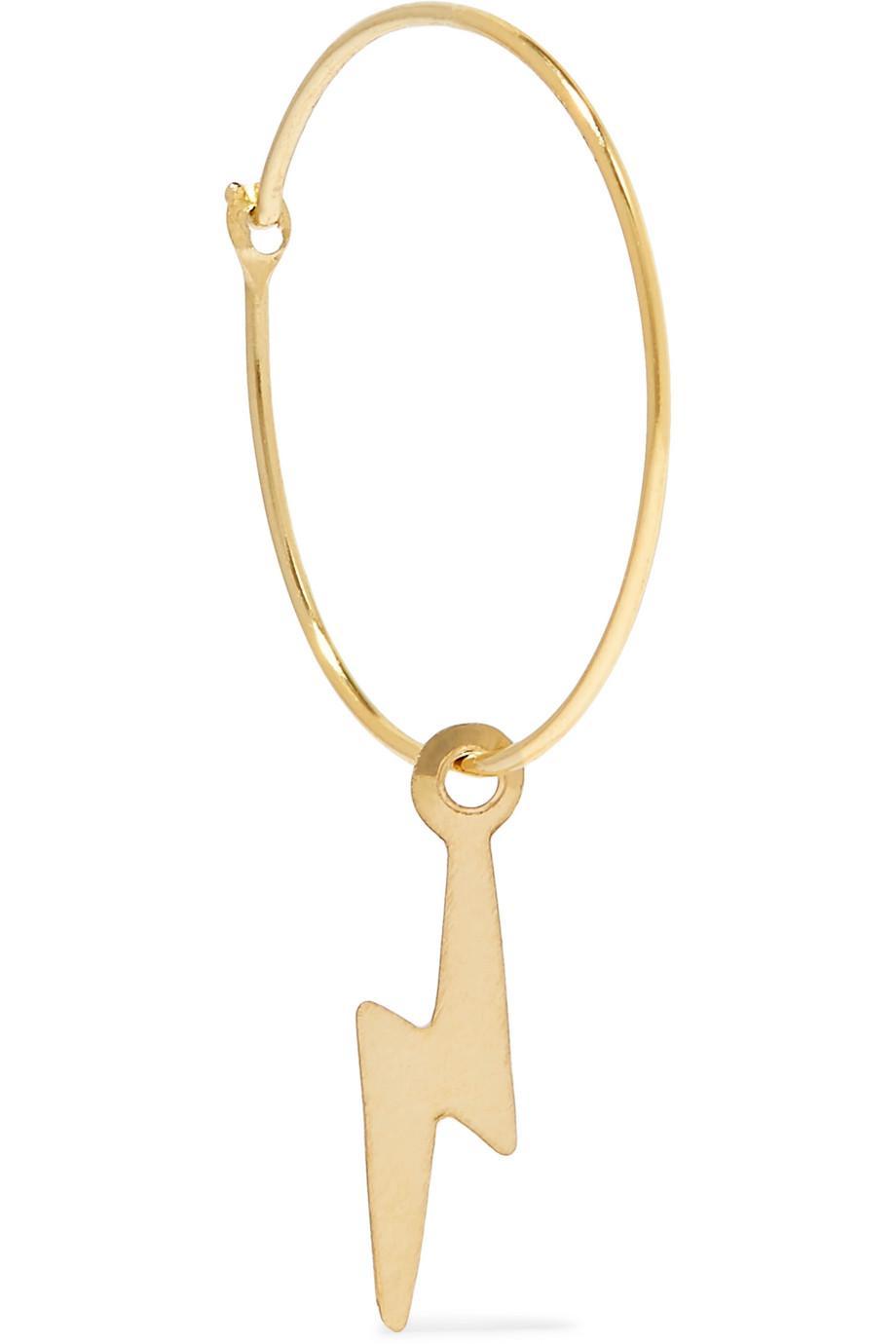 Loren Stewart Bolt 14-karat Gold Hoop Earring s8LhBI