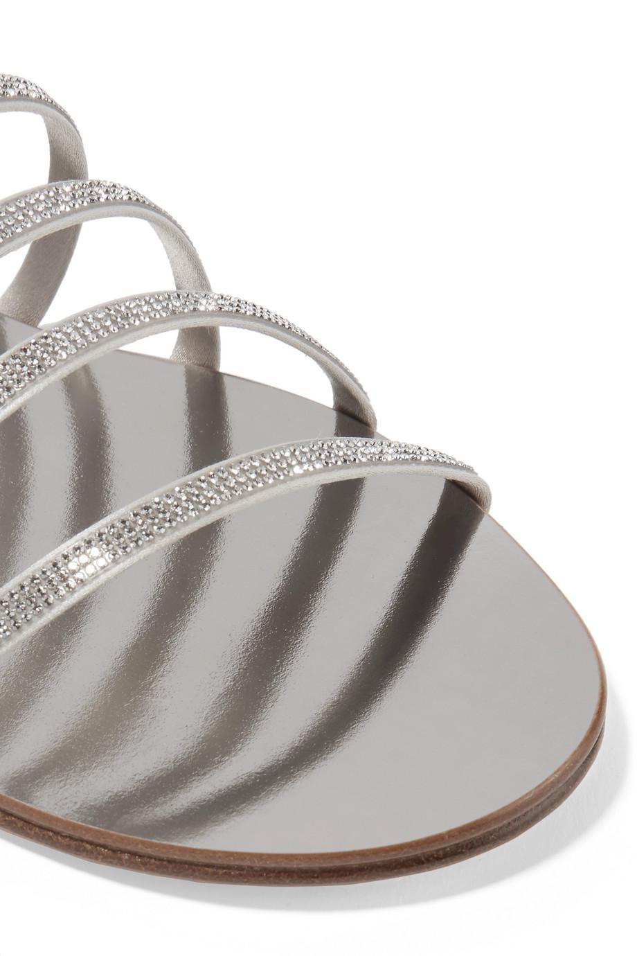 Amazing Price For Sale Pedro Garcia Sarah Swarovski Crystal-embellished Satin And Metallic Leather Sandals Buy Cheap Release Dates Finishline For Sale Geniue Stockist Sale Online Cheap Sale Explore FFVfkksGAx