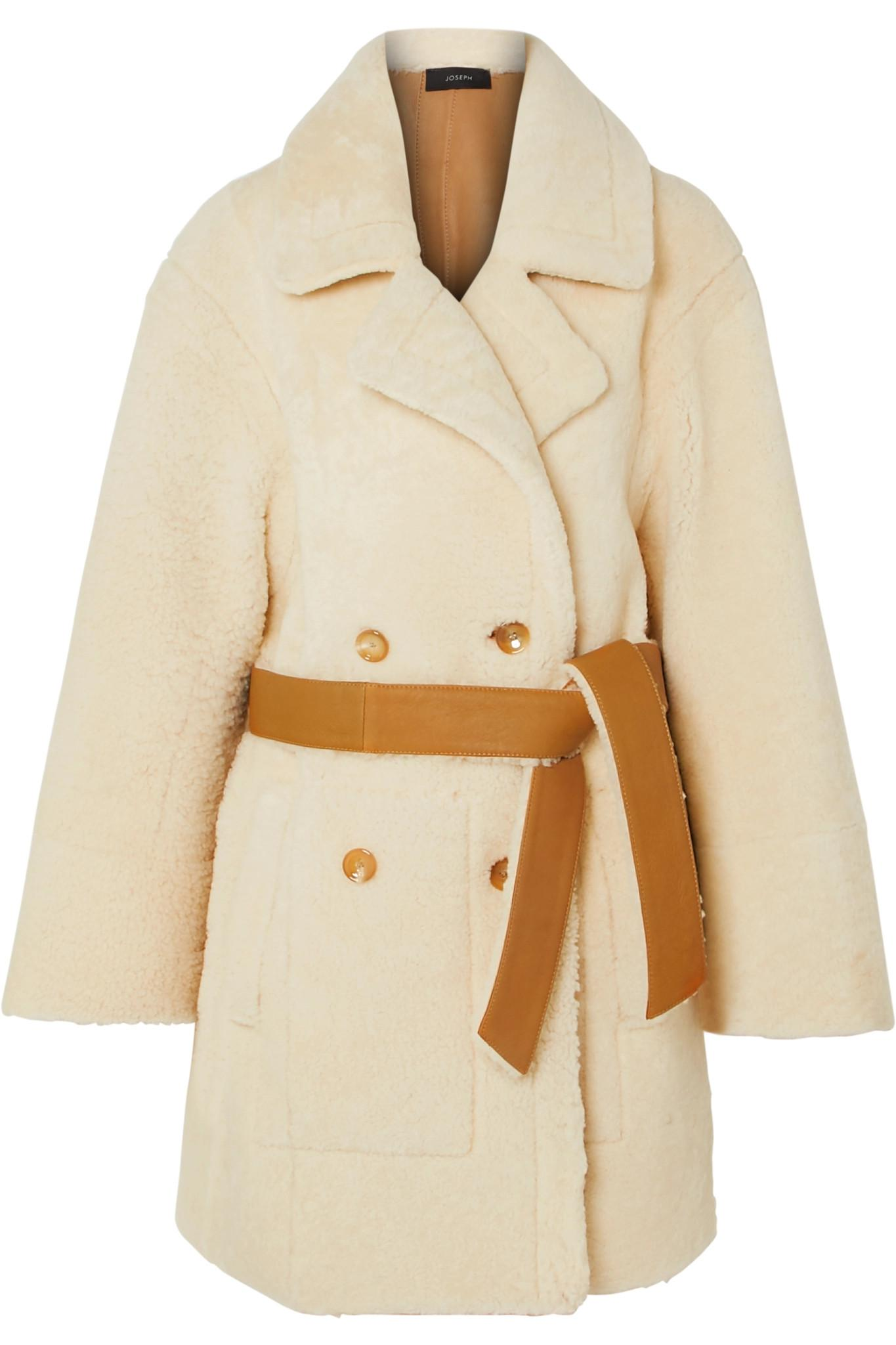 fc24ebbdd7b2 Lyst - JOSEPH Jimmy Double-breasted Shearling Coat in Natural
