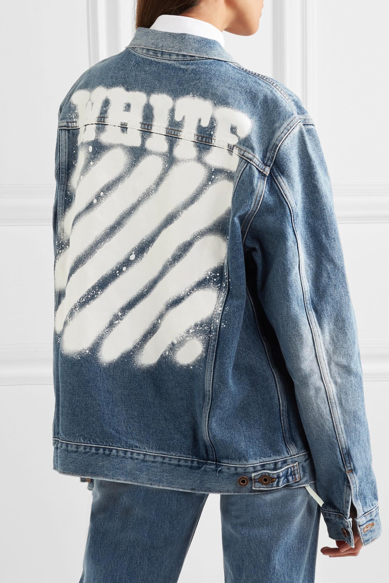 Off-white c/o virgil abloh Oversized Printed Denim Jacket ...