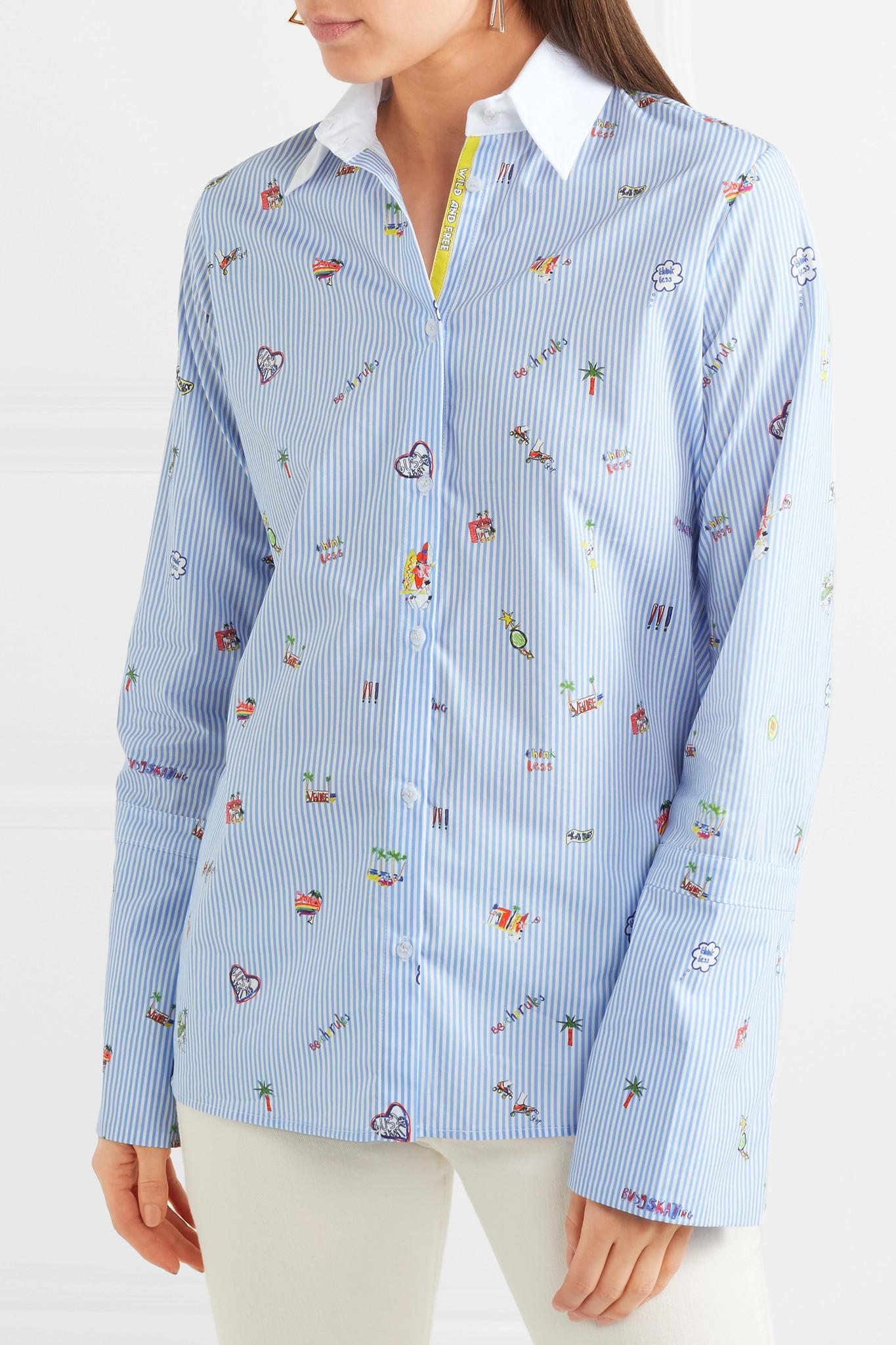 Womens Venice Beach-Print Cotton Blouse Mira Mikati Cheap 100% Guaranteed cIETUcuv