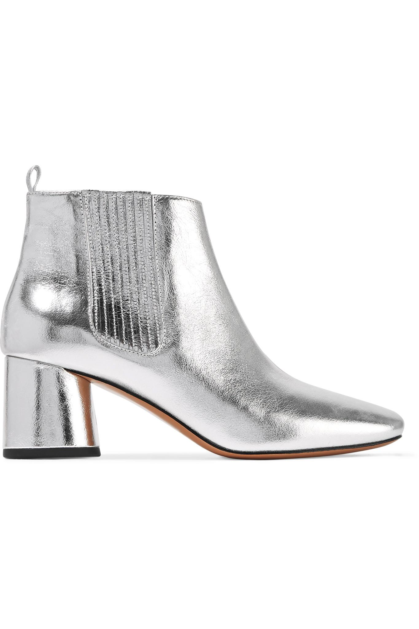 marc jacobs rocket metallic leather chelsea boots in metallic lyst. Black Bedroom Furniture Sets. Home Design Ideas