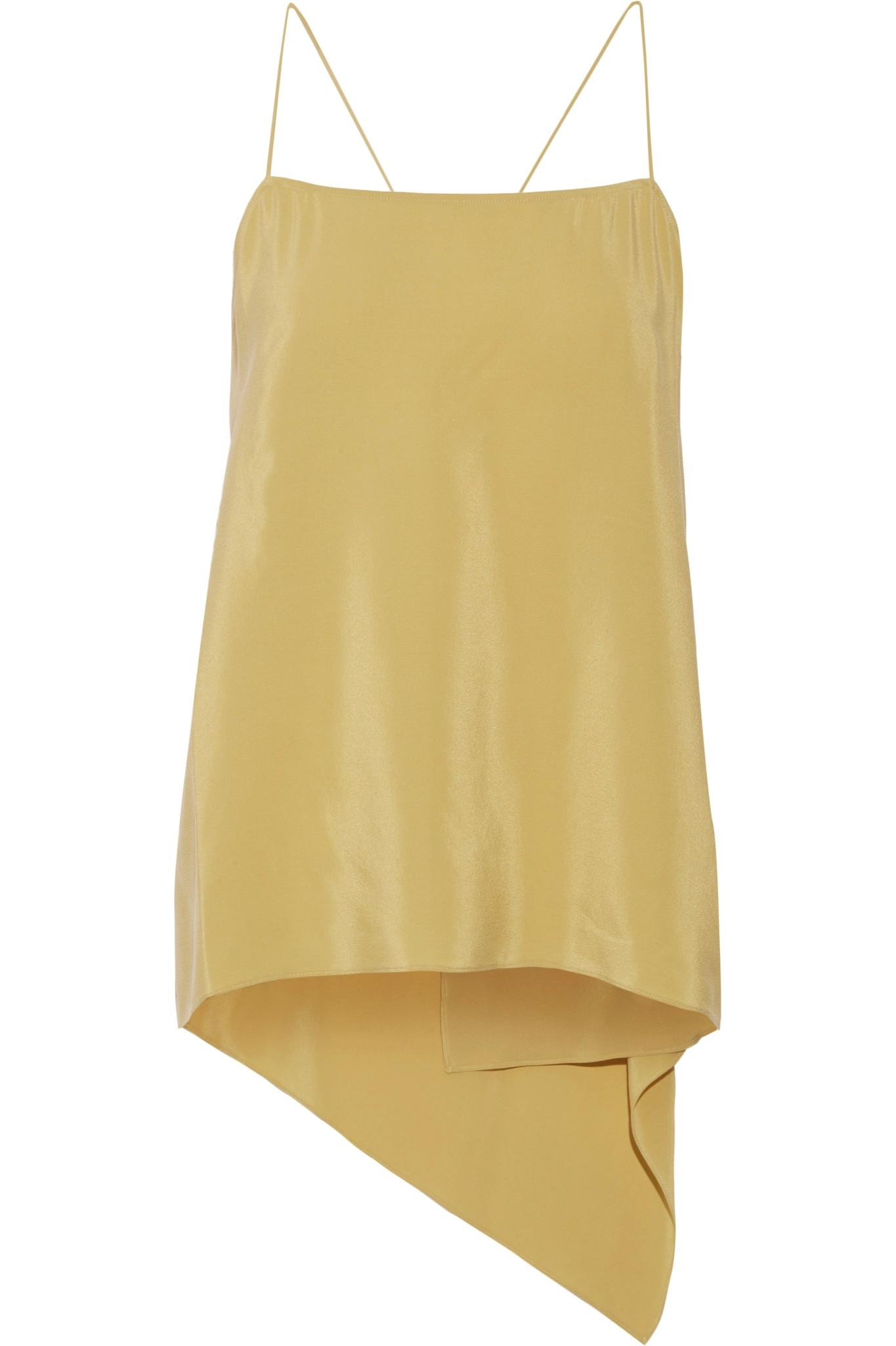 Theory Woman Asymmetric Draped Washed-silk Camisole Yellow Size L Theory Buy Cheap How Much Fake Sale Online Reliable Cheap Online Outlet Locations Cheap Price Wholesale Price Sale Online QIUjEaG0j