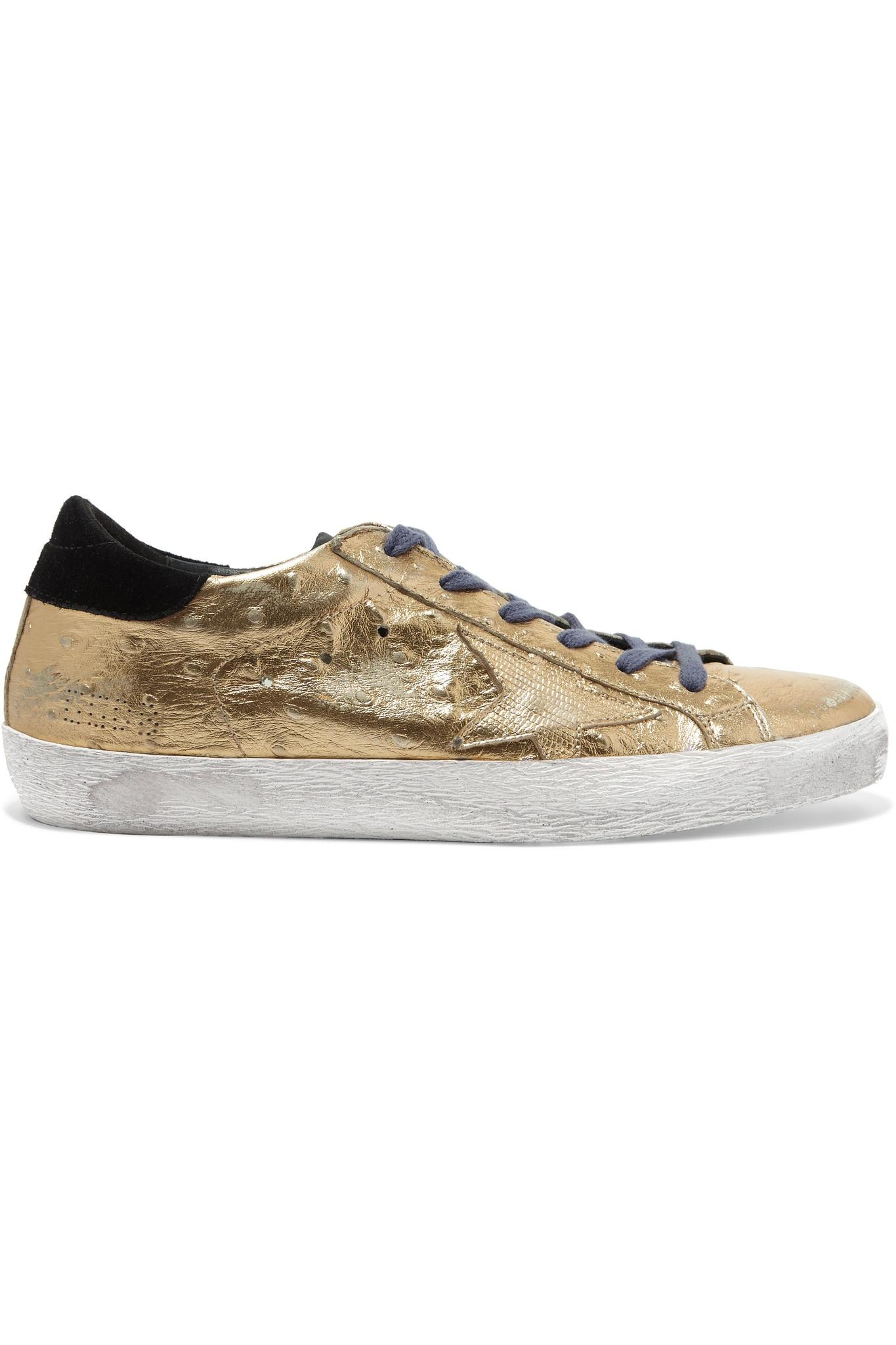 Golden goose deluxe brand Super Star Distressed Metallic ...