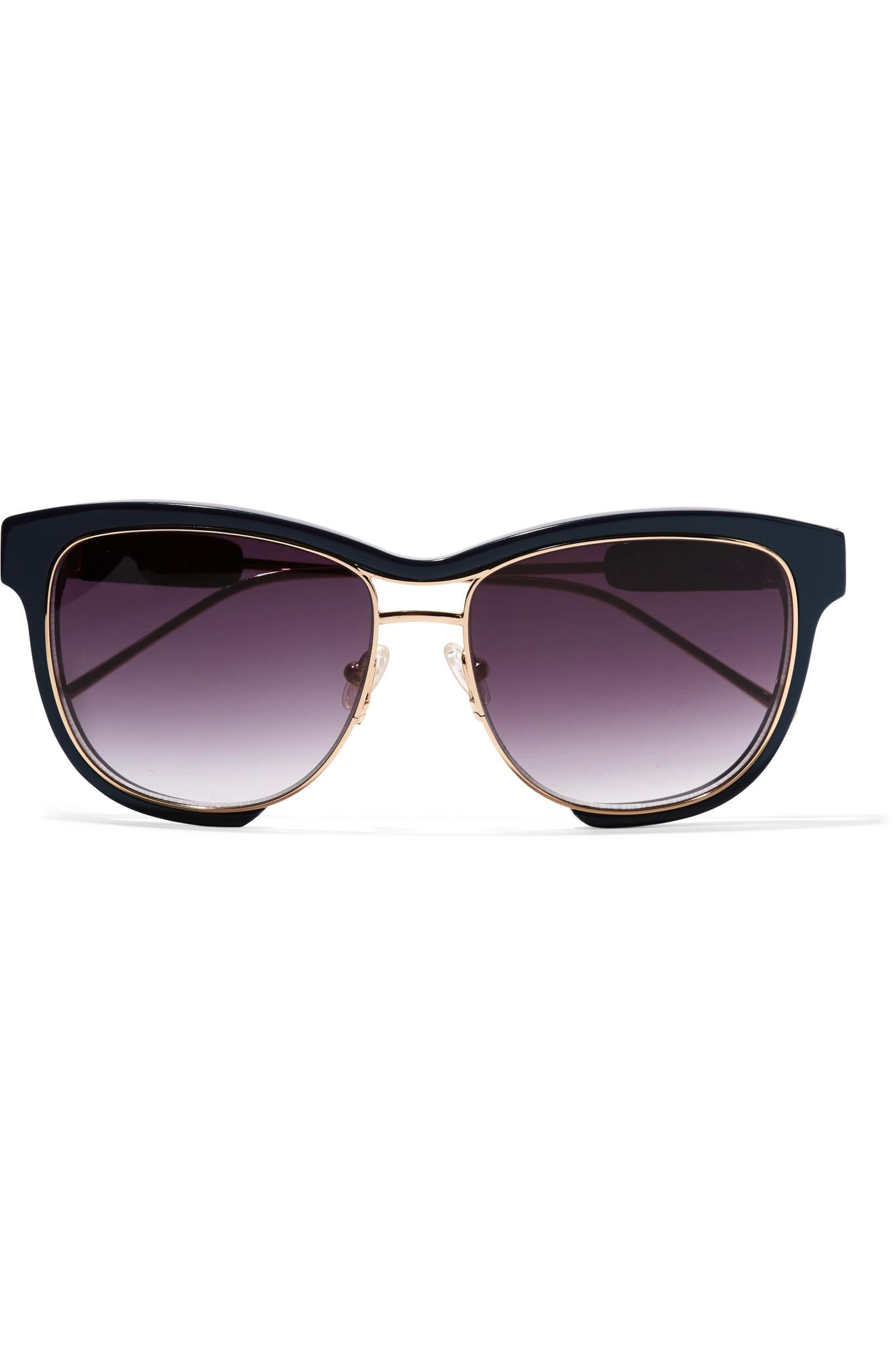 Square Gold Frame Sunglasses : Sacai + Linda Farrow Square-frame Acetate And Gold-tone ...