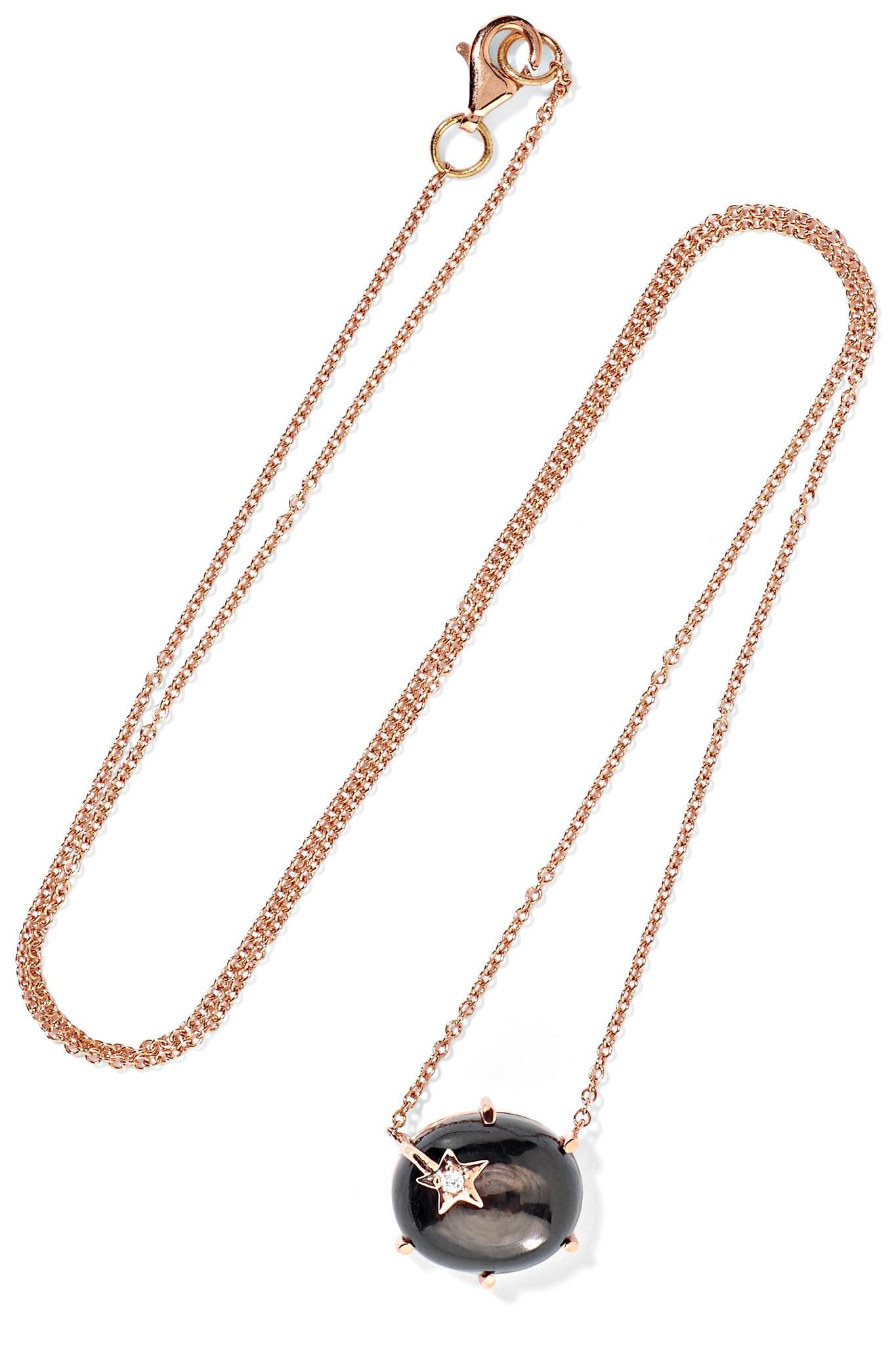 Andrea Fohrman Mini Galaxy 18-karat Rose Gold Multi-stone Necklace hNi4Uz7is