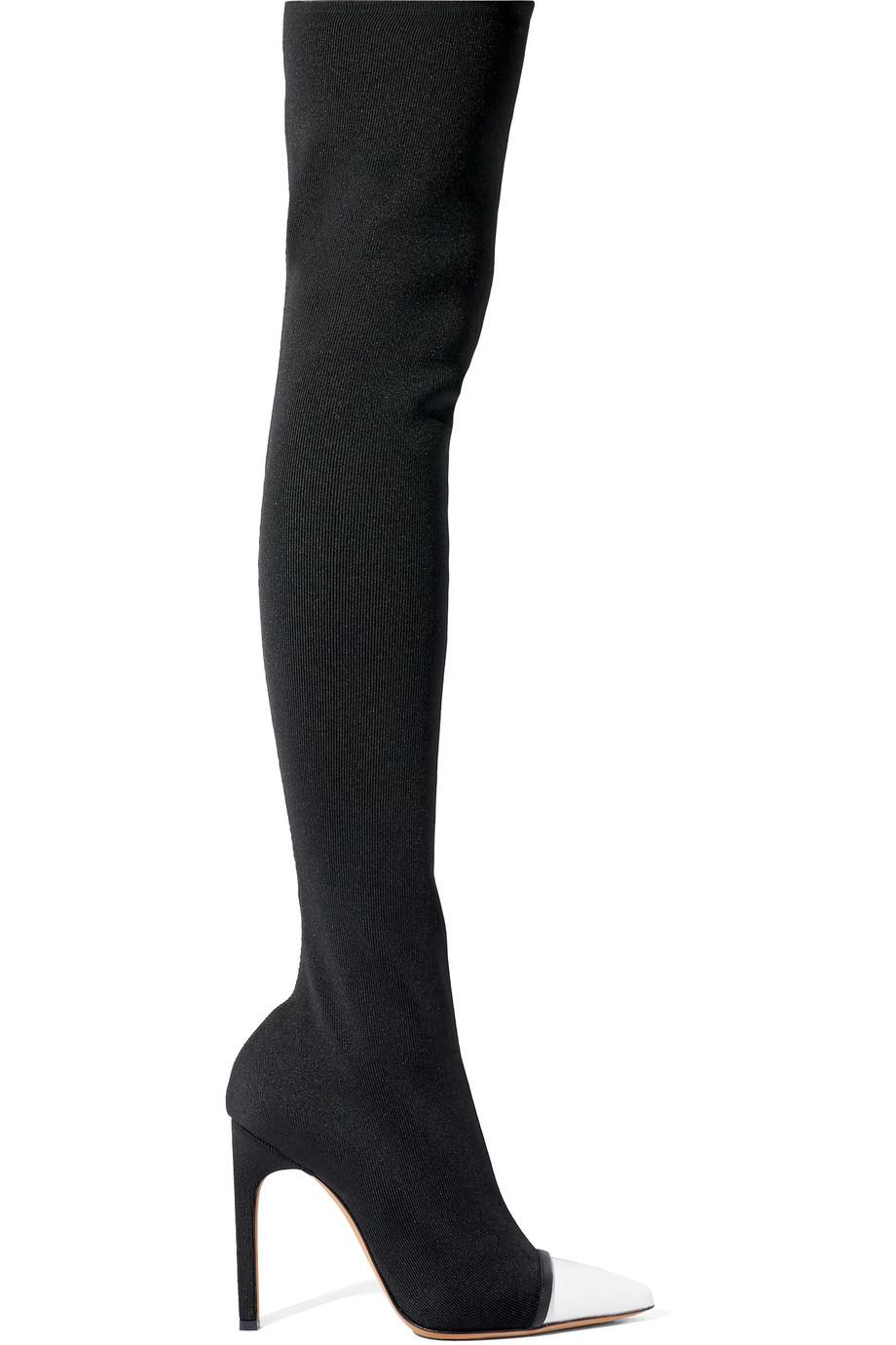 Givenchy Over-the-knee stretch-knit boots UyVmt