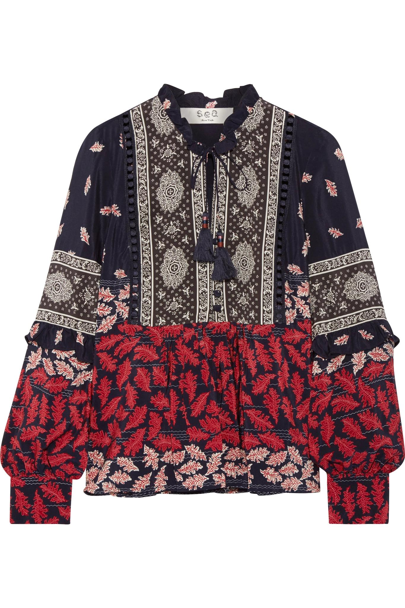 Discount With Paypal Sea Woman Ruffle-trimmed Printed Silk Crepe De Chine Blouse Multicolor Size 4 Sea New York Free Shipping Find Great Discount Manchester g9zbJYnv1