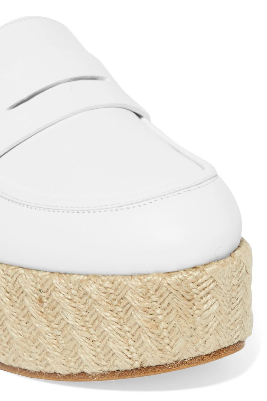 Brucco Leather And Jute Platform Loafers - Ivory Gabriela Hearst tBVqGlv