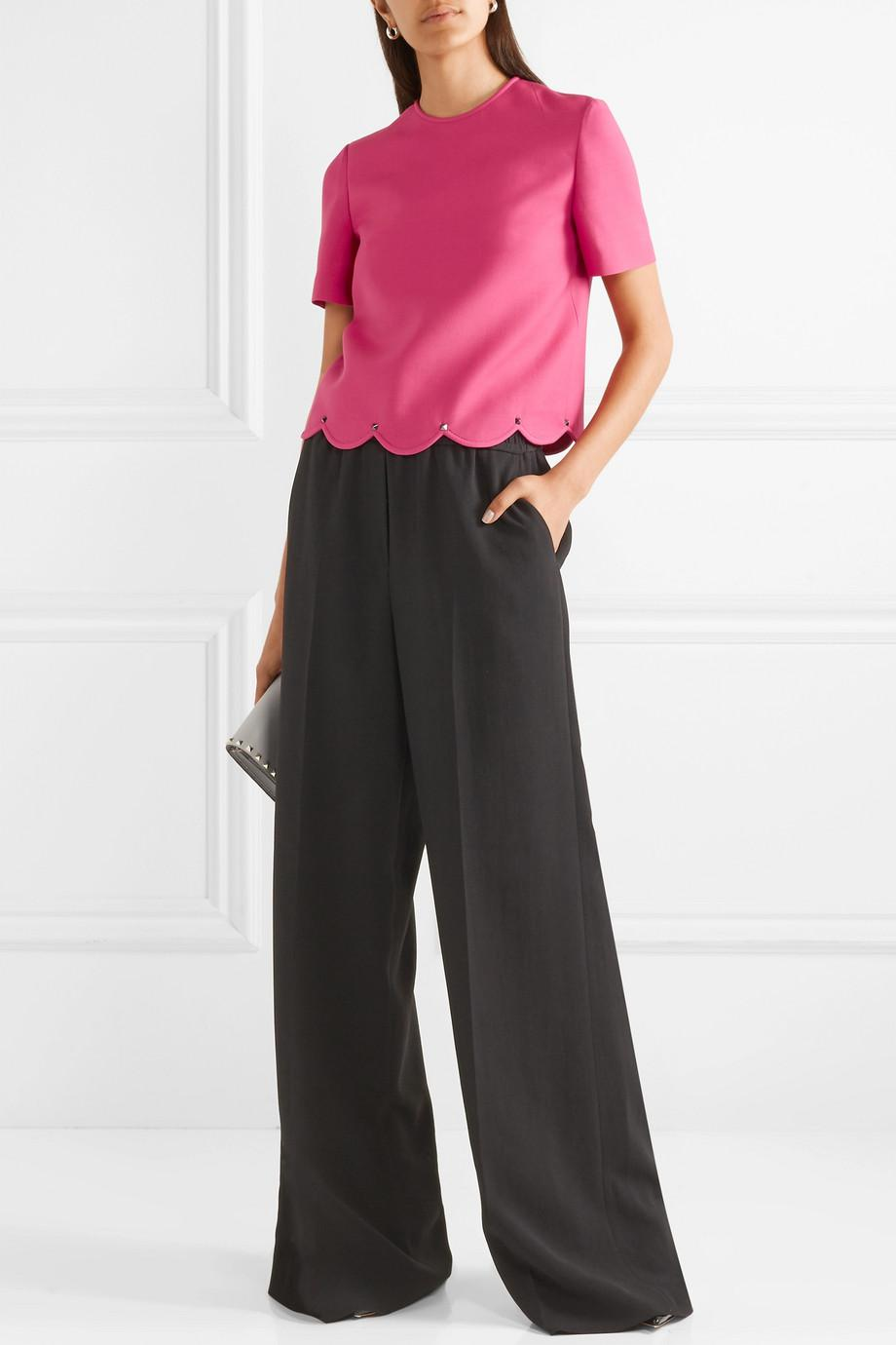 8a0b1be1c01 valentino-pink-Studded-Scalloped-Wool-And-Silk-blend-Crepe-Top.jpeg