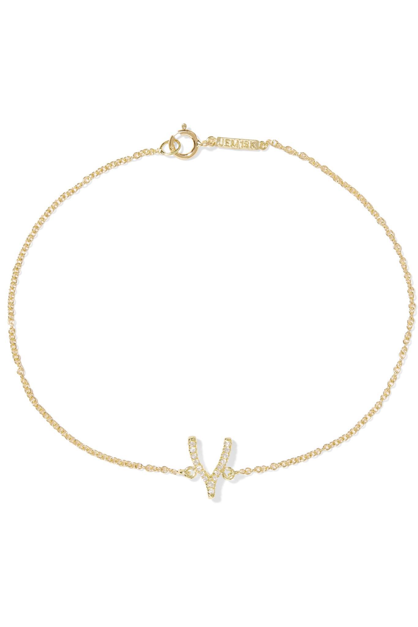 Jennifer Meyer 18-karat Gold Diamond Bracelet 3Le5id