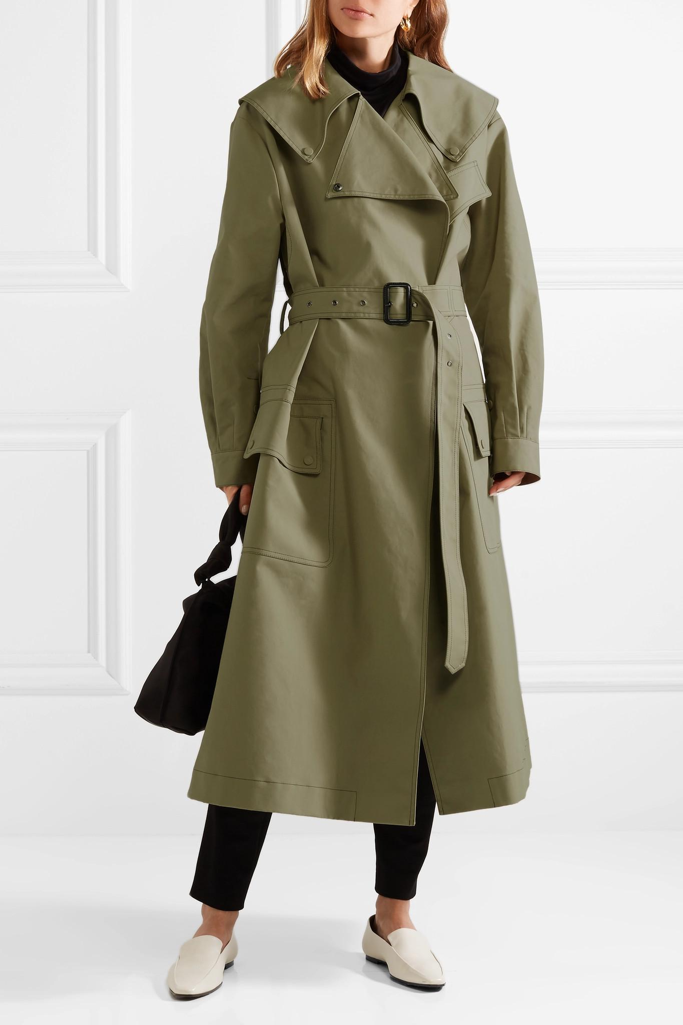 af3977aaddfd Joseph - Green Damon Oversized Cotton-garbardine Trench Coat - Lyst. View  fullscreen