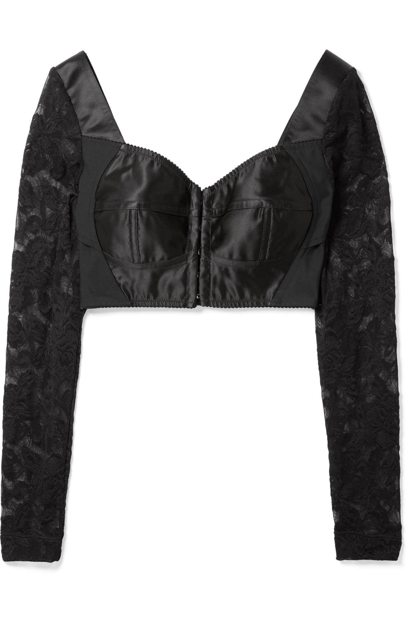 5cb49d44c9dd6a Dolce   Gabbana. Women s Black Cropped Satin