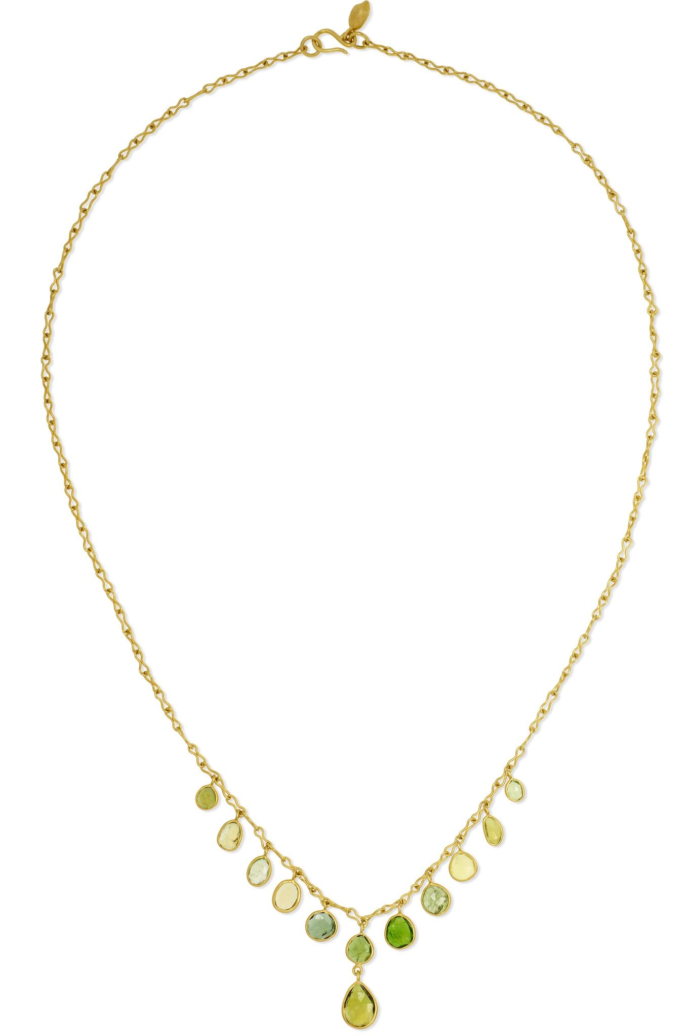 Pippa Small 18-karat Gold Spinel Necklace QdWz0Uw