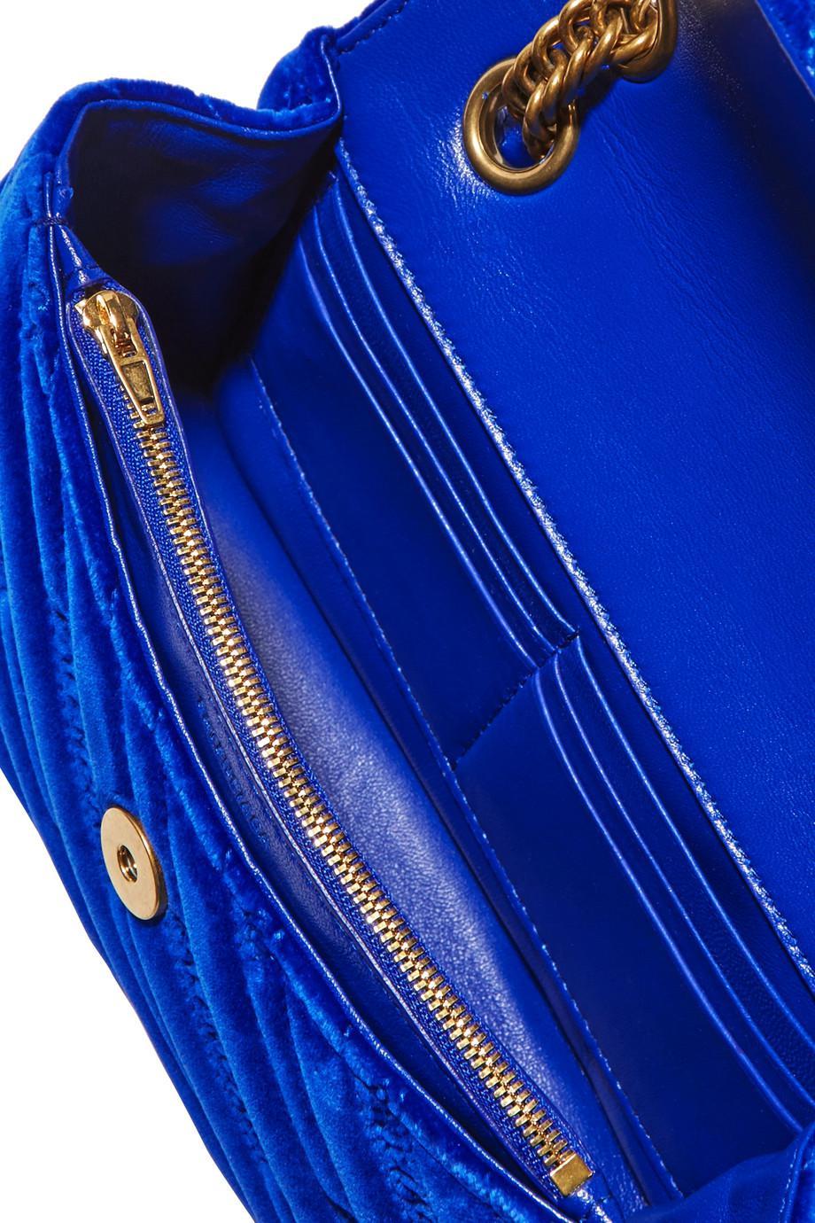 Bb Round Embroidered Quilted Velvet Shoulder Bag - Bright blue Balenciaga Bx1ZGsOX