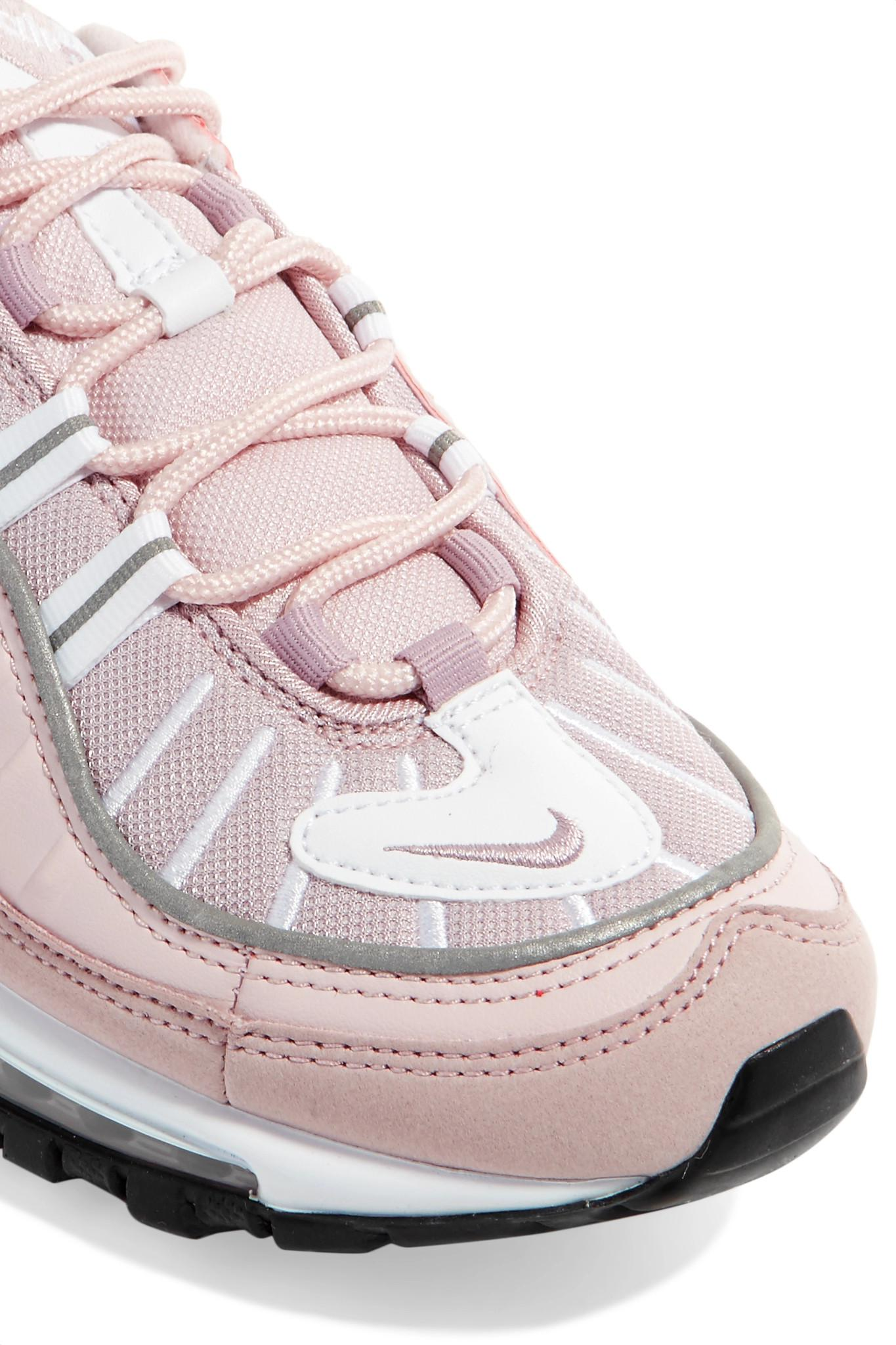 398e2b37406252 nike-pastel-pink-Air-Max-98-Leather-Suede-And-Mesh-Sneakers.jpeg
