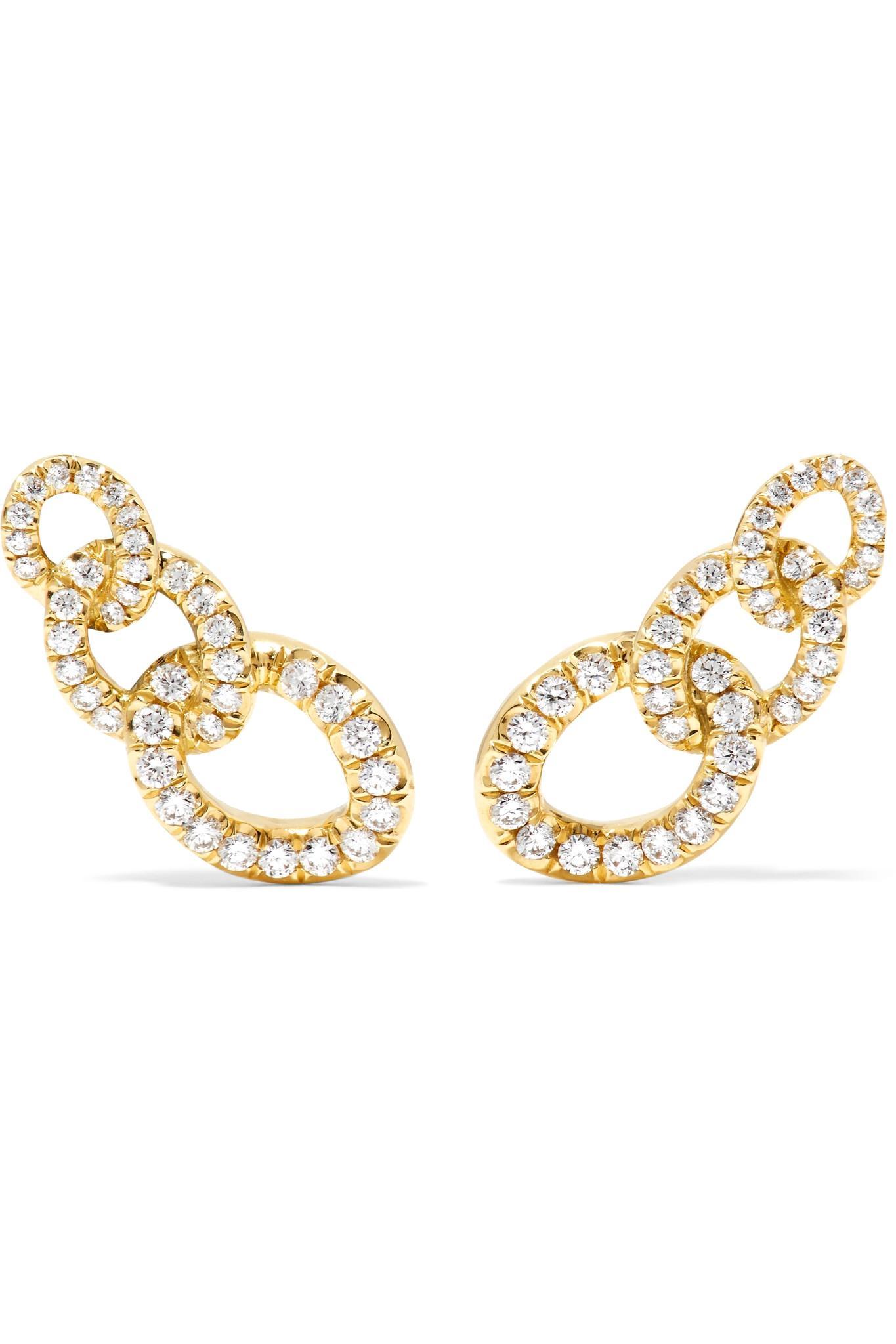 Jemma Wynne 18-karat Rose Gold Diamond Earrings SogLwbB