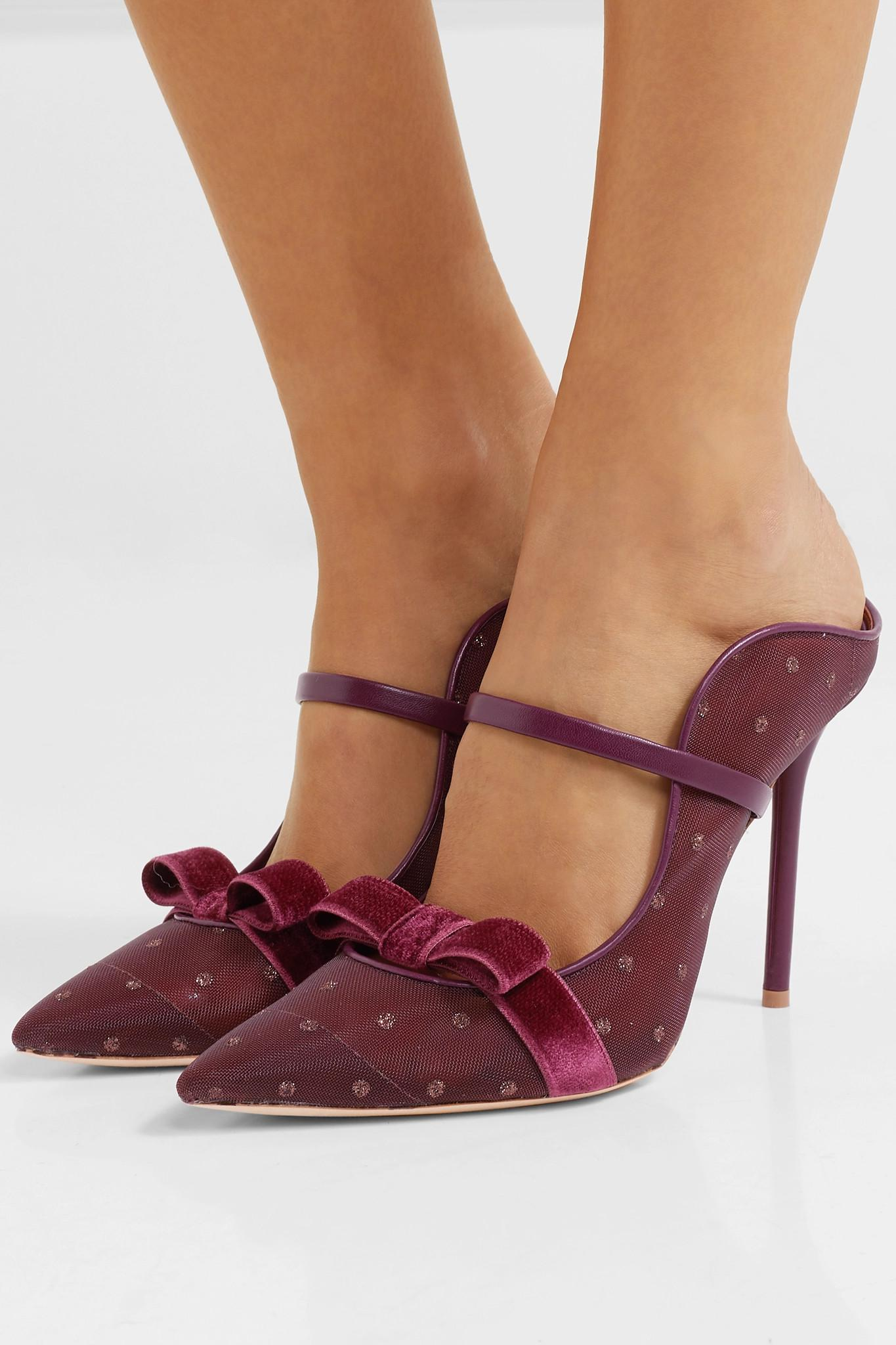 Souliers Trimmed Velvet Lyst And 100 Marguerite Leather Malone p1nx5qwU