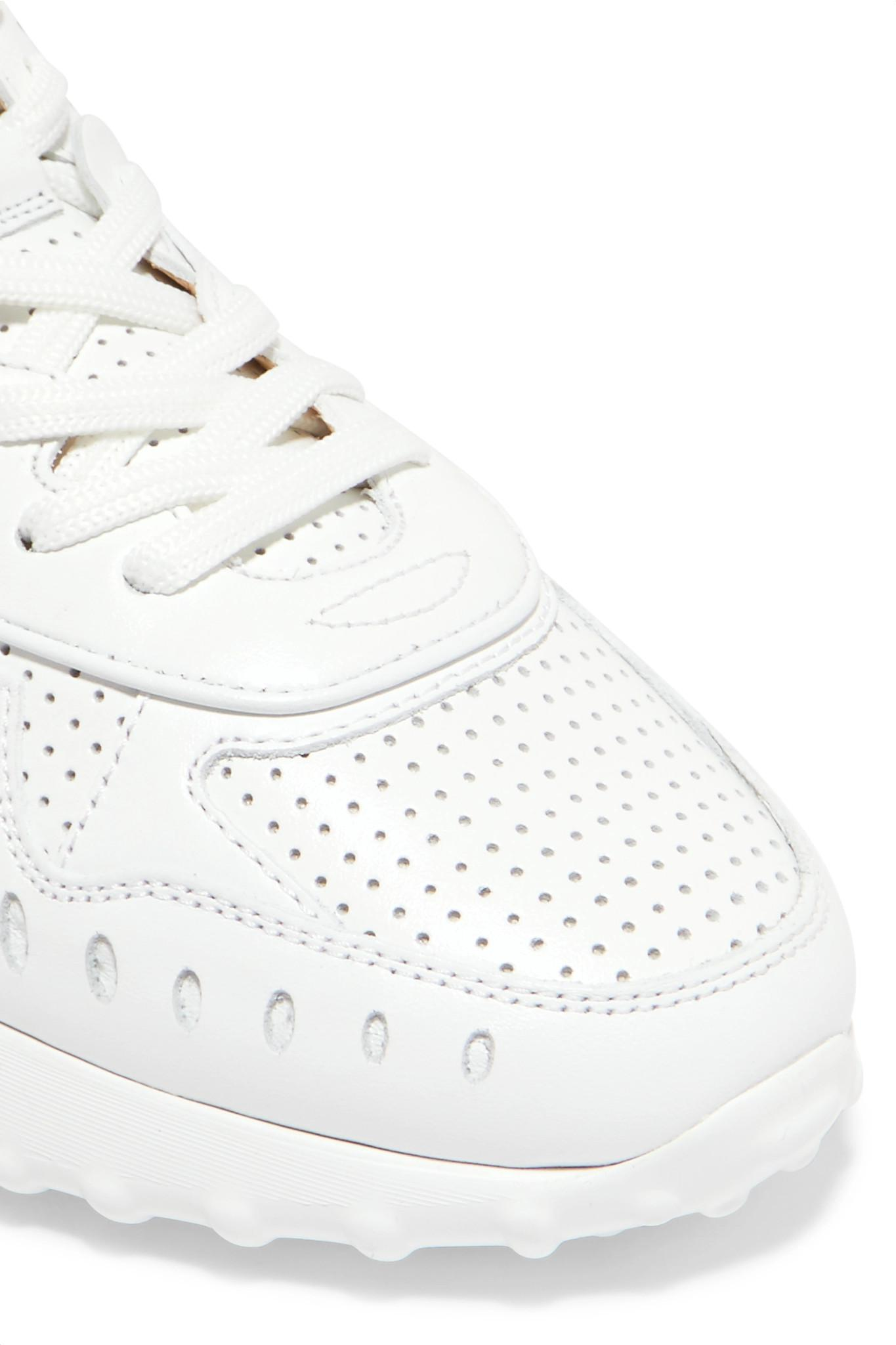 Logo-print Perforated Leather Sneakers - White Tod's GOdLib7W