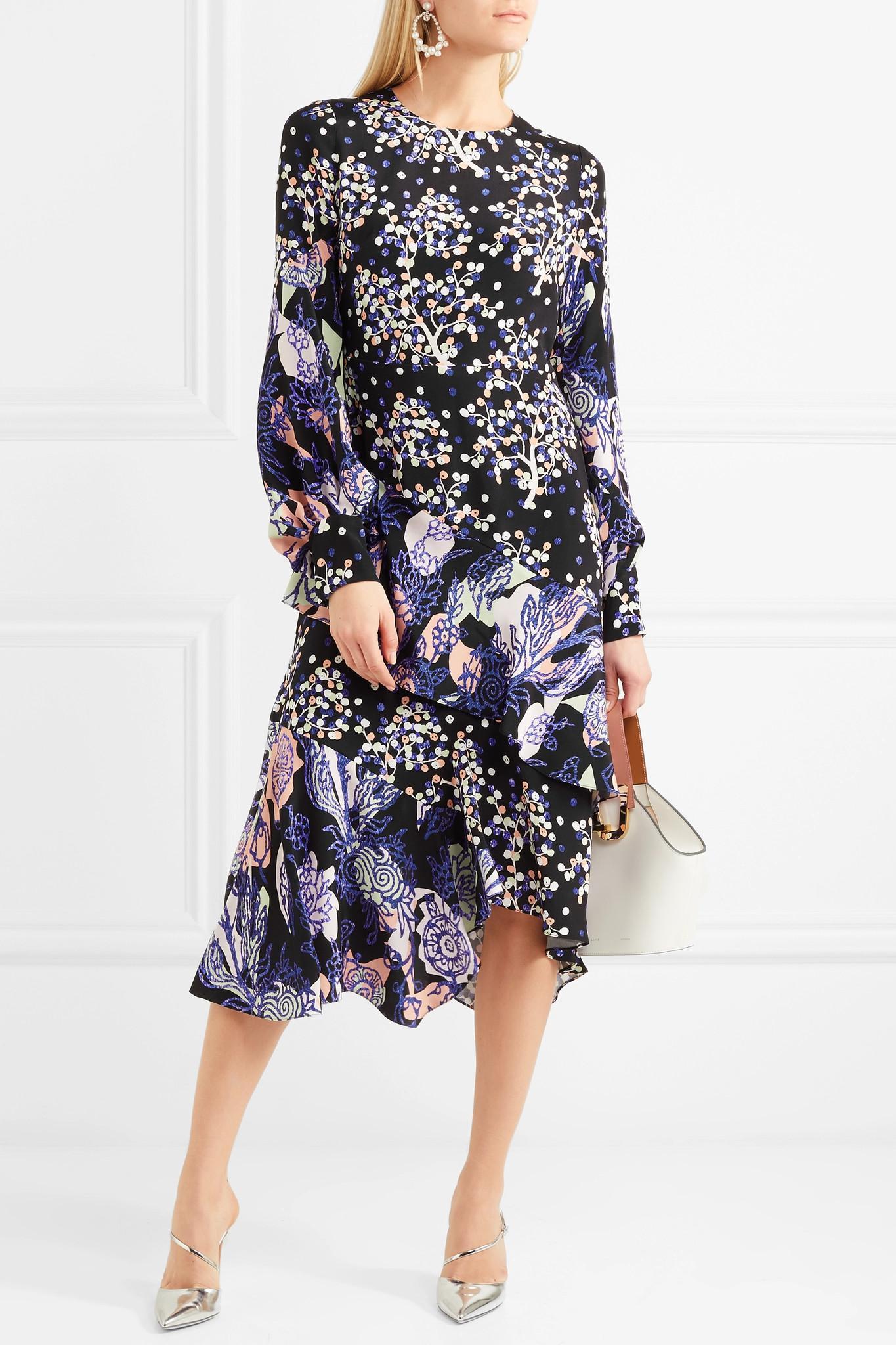 Asymmetric Jacquard Dress Peter Pilotto Outlet Store For Sale WZIXopx