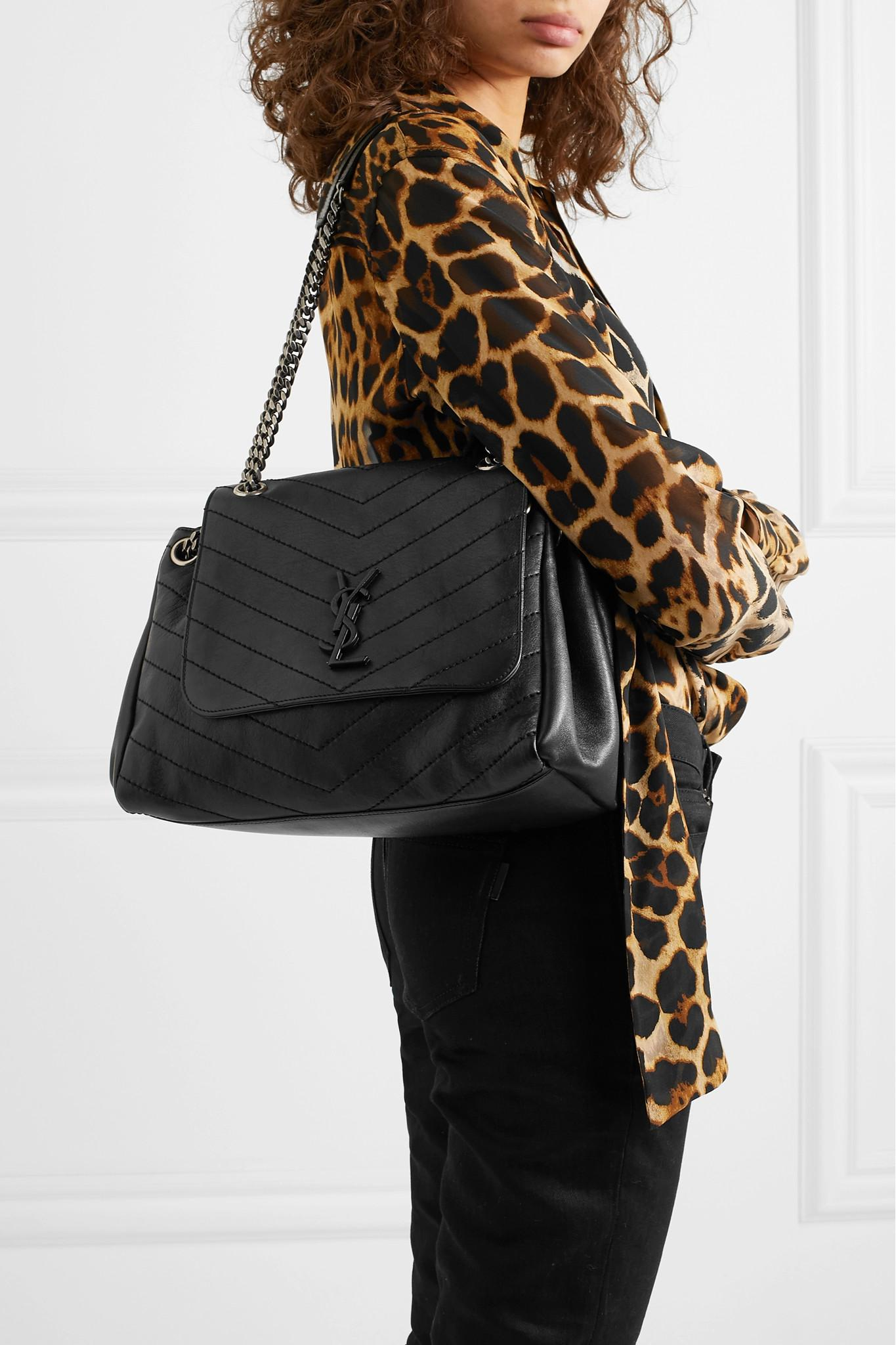 7b1a3a07a4e7 Saint Laurent - Black Nolita Large Quilted Leather Shoulder Bag - Lyst.  View fullscreen